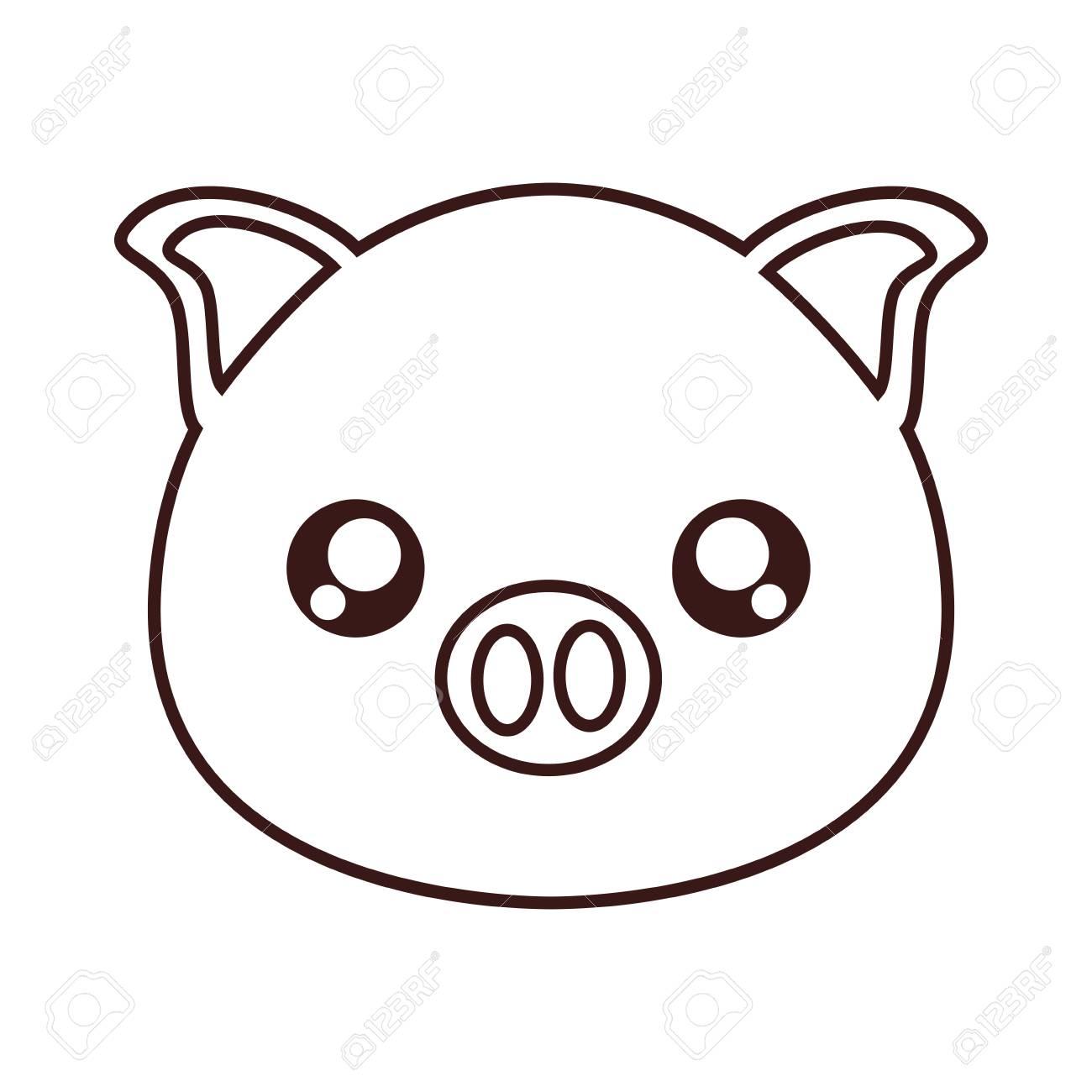 Lujoso Páginas Para Colorear De Cerdos Para Niños Regalo - Enmarcado ...