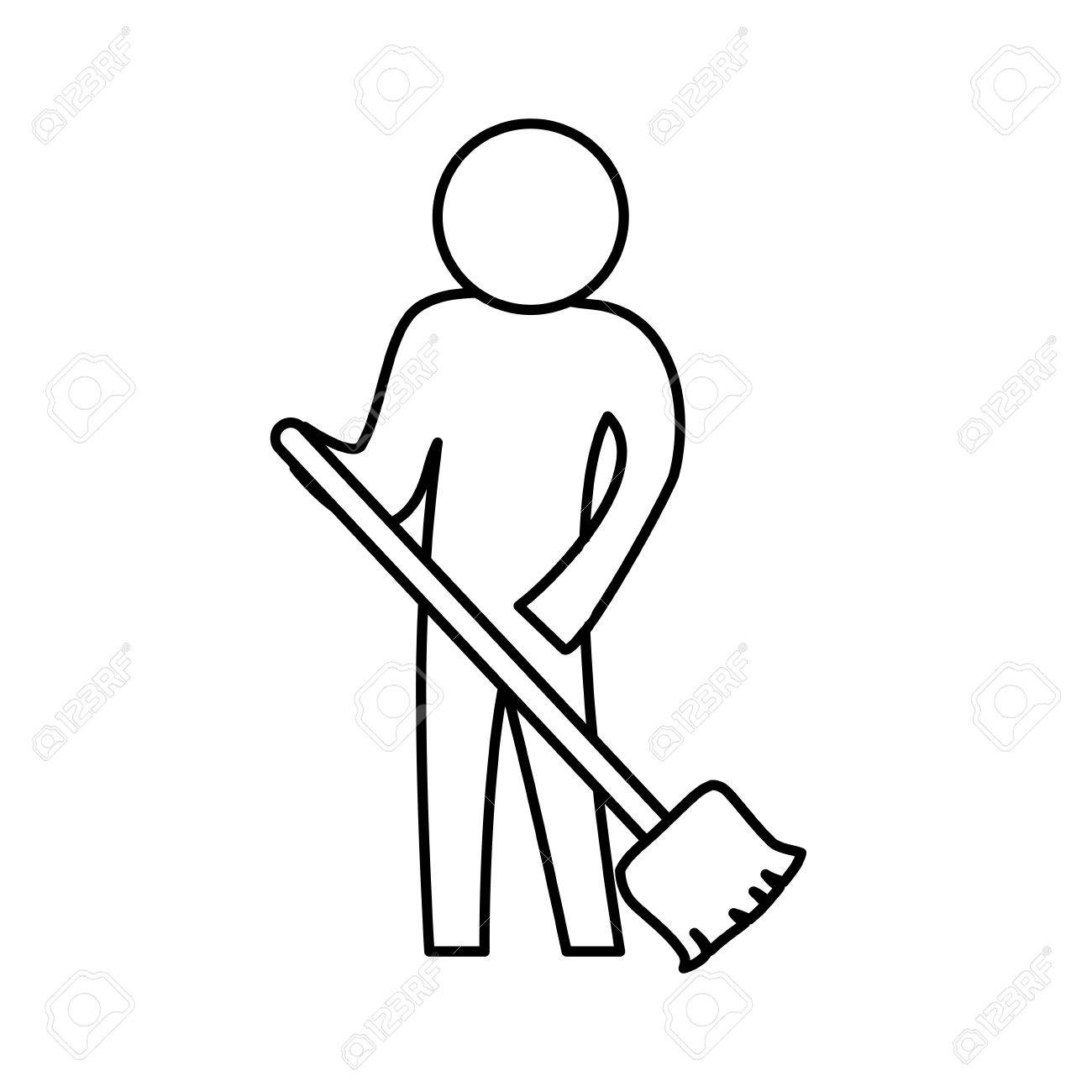 sweeping the floor icon vector illustration graphic design royalty free cliparts vectors and stock illustration image 76492131 sweeping the floor icon vector illustration graphic design