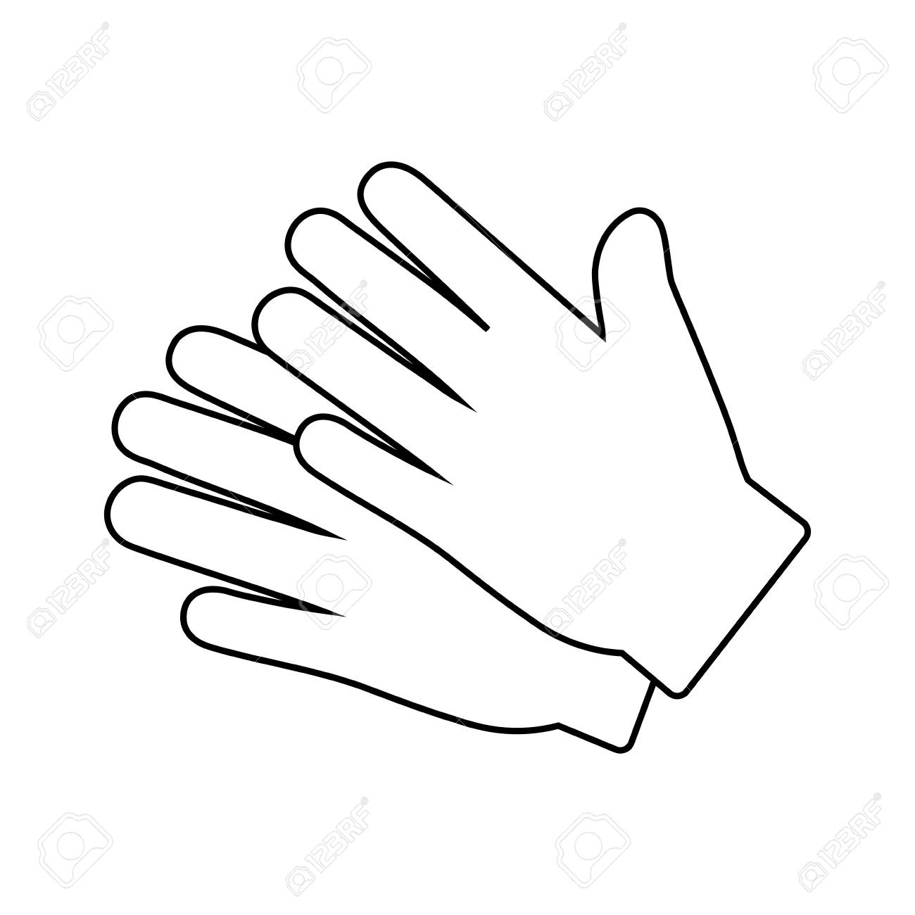 gardening gloves icon over white background. vector illustration