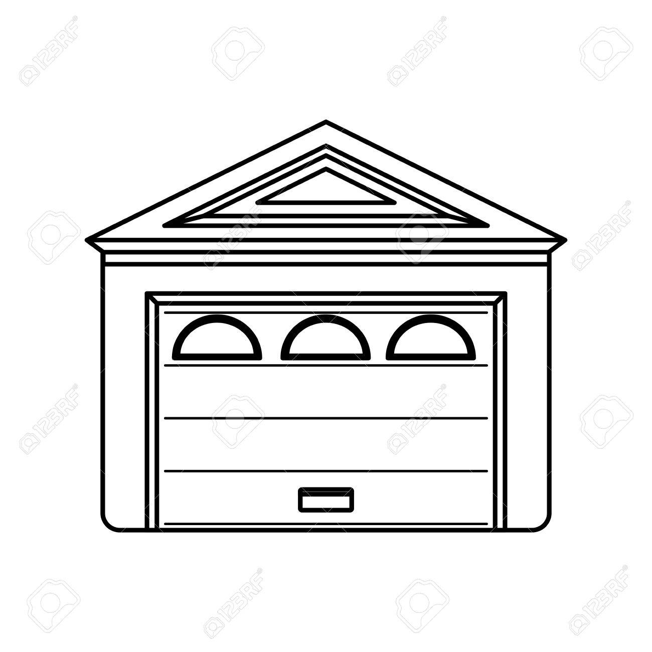 garage door house icon vector illustration graphic design royalty rh 123rf com free garage door clipart