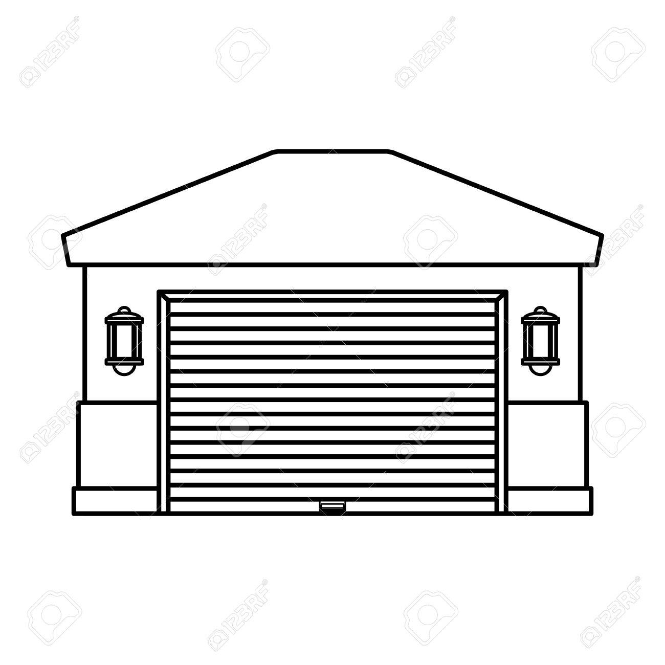 garage door house icon vector illustration graphic design royalty rh 123rf com  garage door opener clipart
