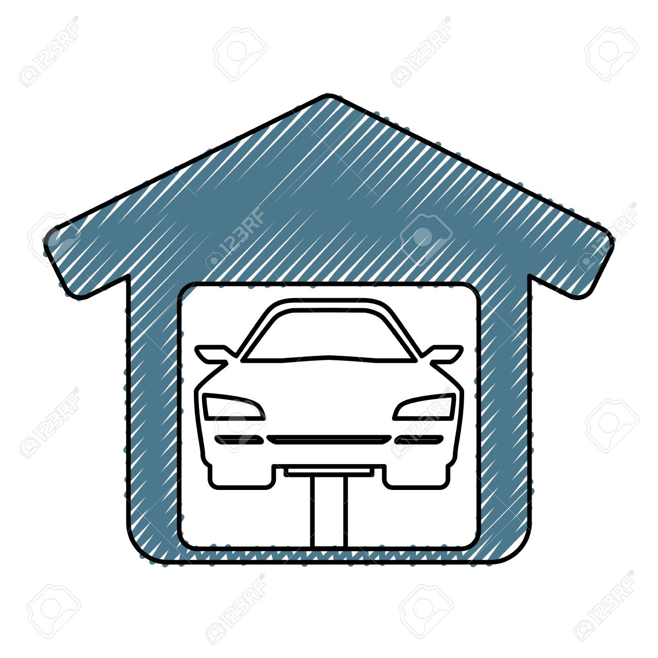 Garage Door Mechanic Icon Vector Illustration Graphic Design Royalty