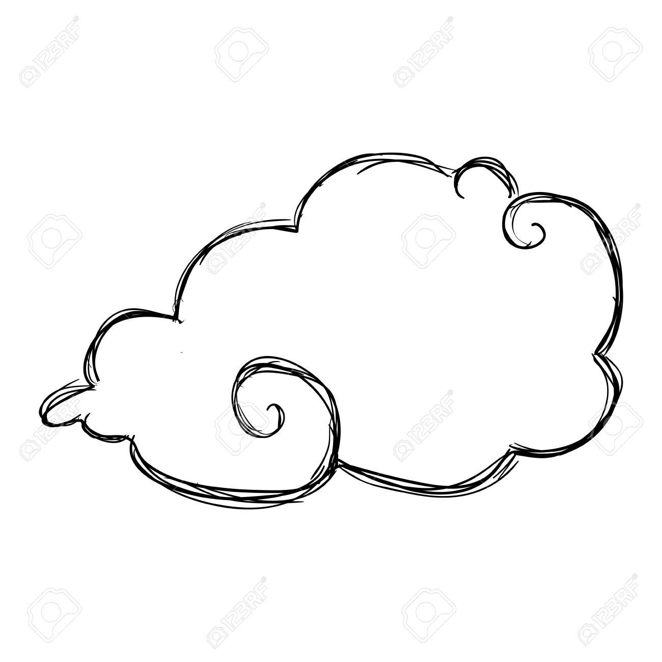 Cloud doodle draw icon vector illustration graphic design