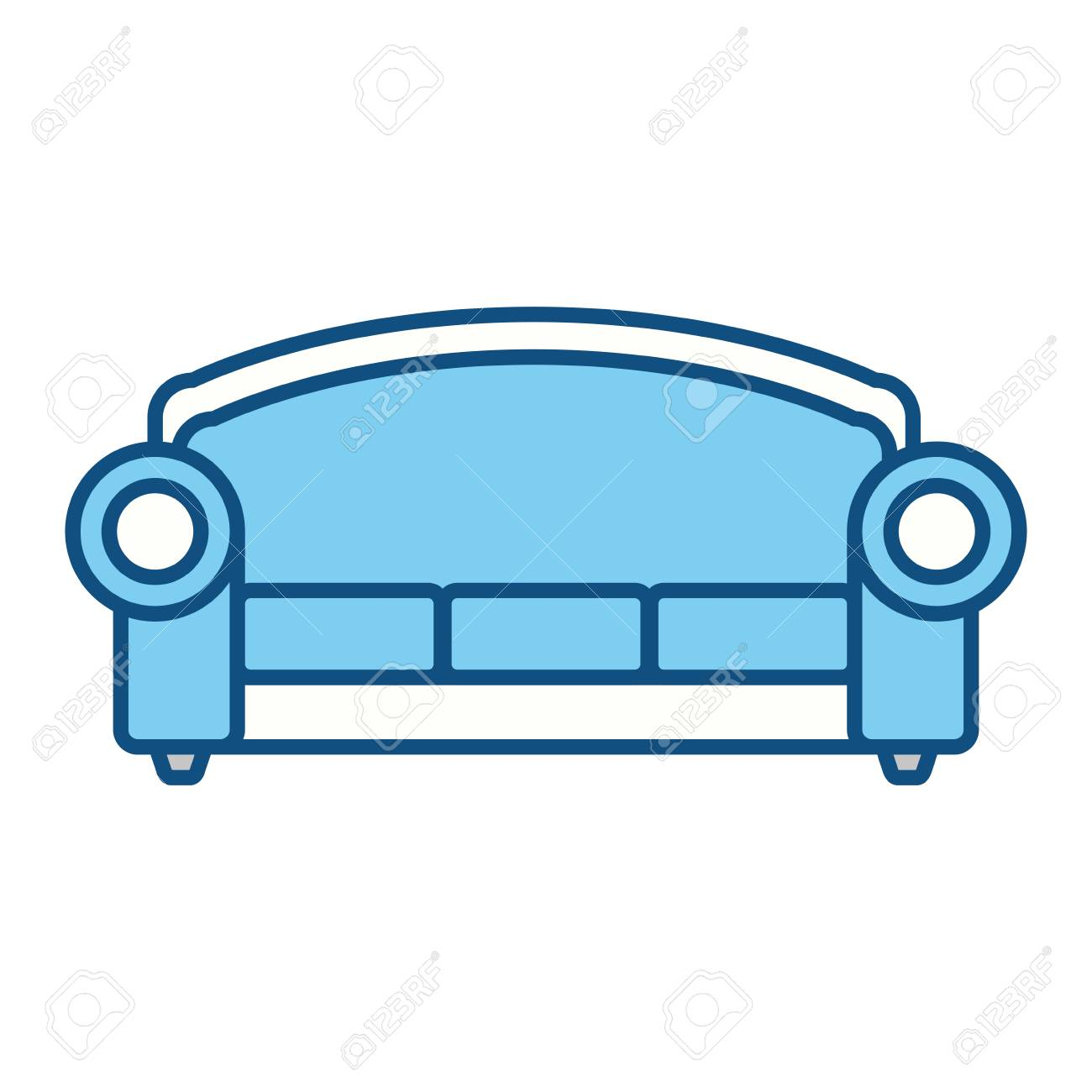 Sofa Furniture Symbol Icon Vector Illustration Graphic Design