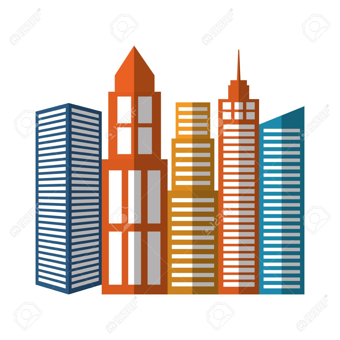 city buildings icon over white background colorful design vector rh 123rf com victor building dc victor building camden nj