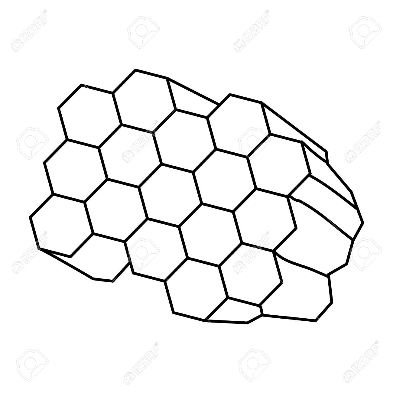 honeycomb cartoon icon vector illustration graphic design royalty rh 123rf com honeycomb vector black and white honeycomb vector black and white