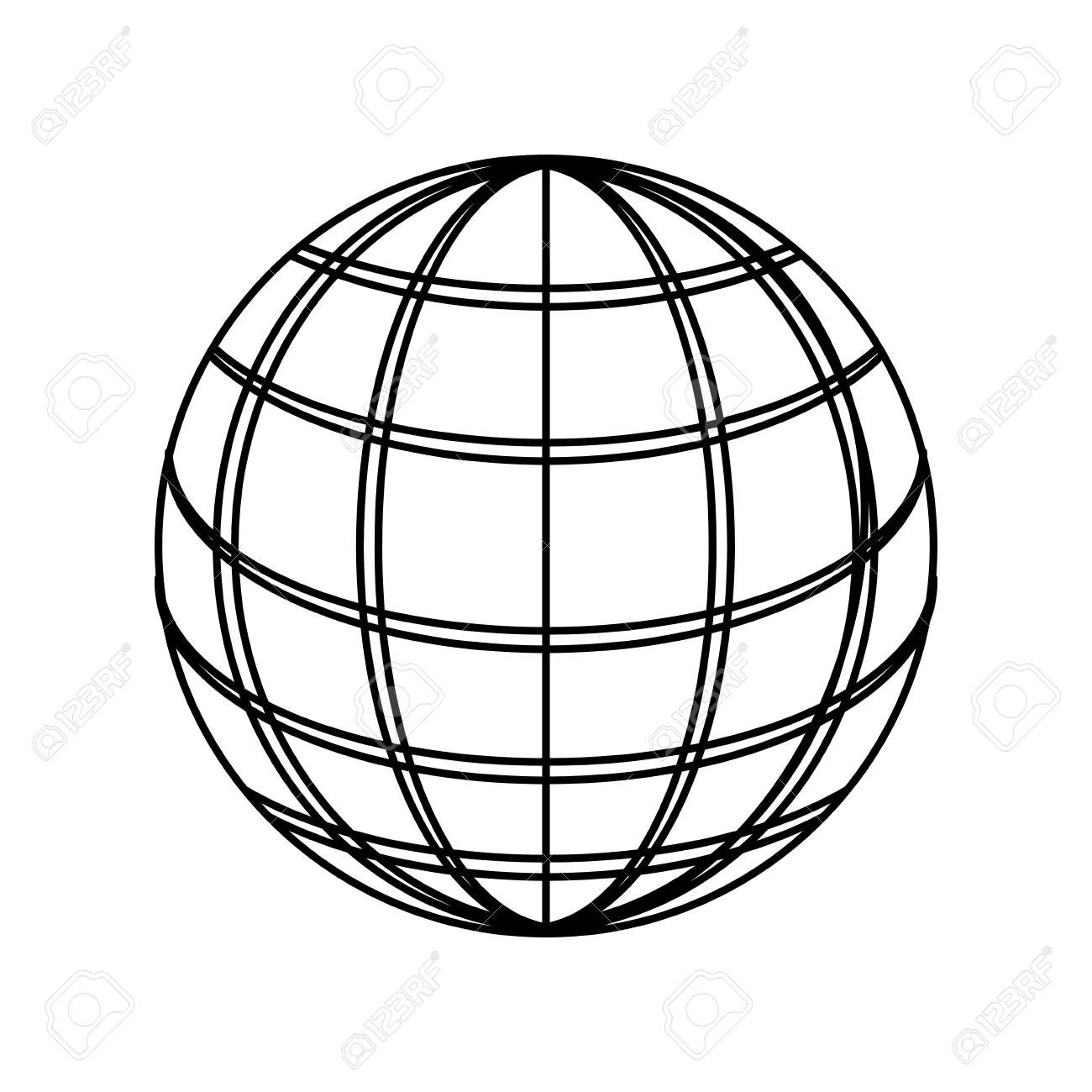 sphere web networkingicon vector illustration graphic design royalty rh 123rf com vector sphere rc drone vector sphere equation