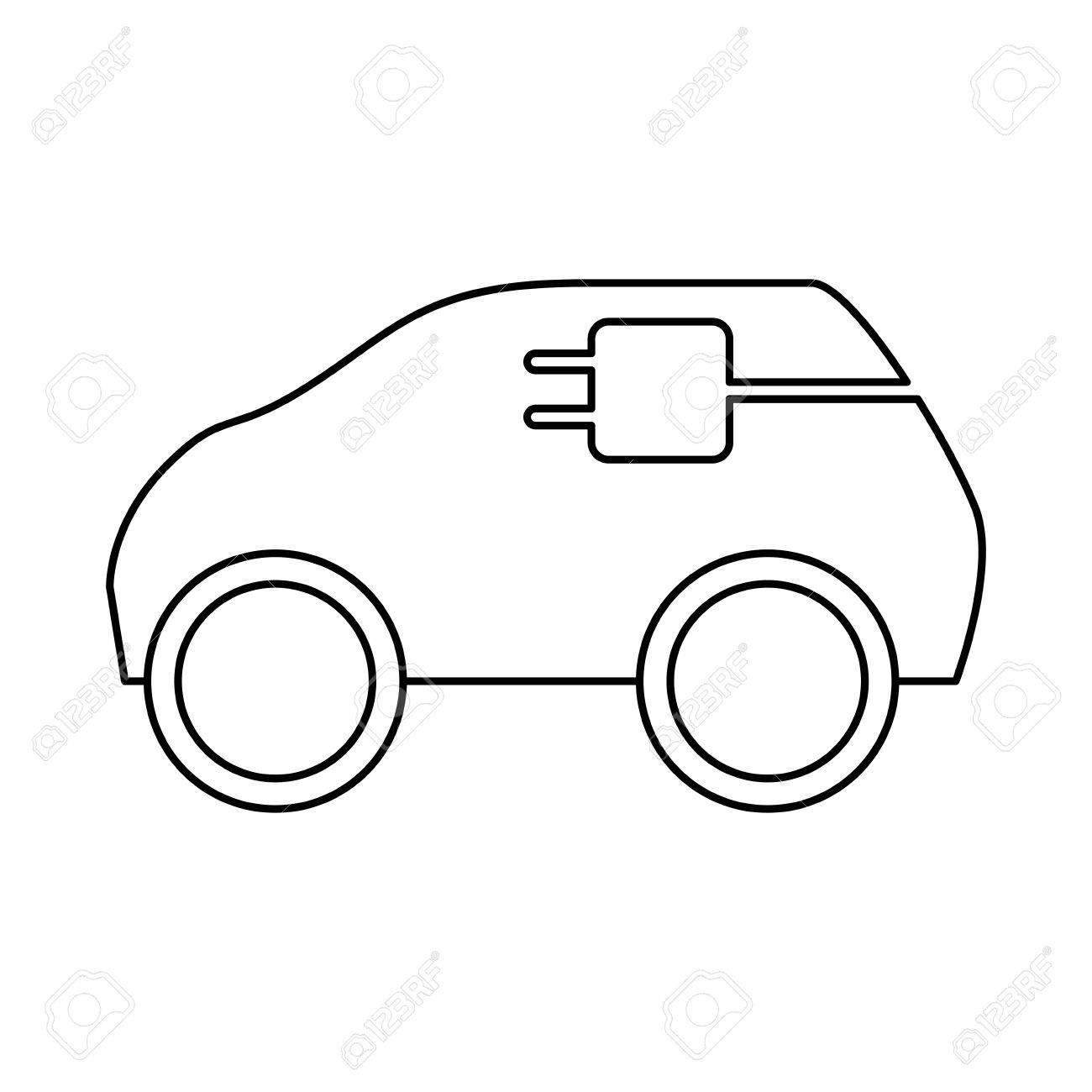 Elektro-Auto-Fahrzeug-Symbol Vektor-Illustration Grafik-Design ...