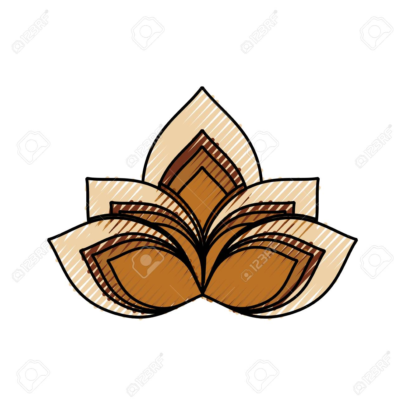 Lotus Flower Symbol Icon Vector Illustration Graphic Design Royalty