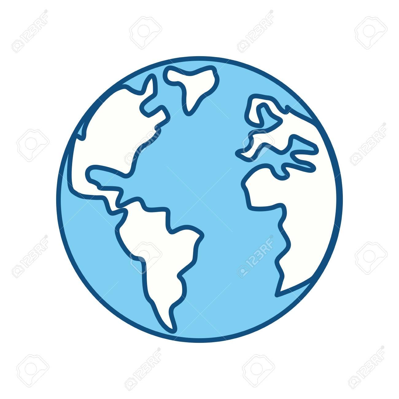 Dessin Planète Terre planète terre dessin animé icône icône vector illustration graphisme