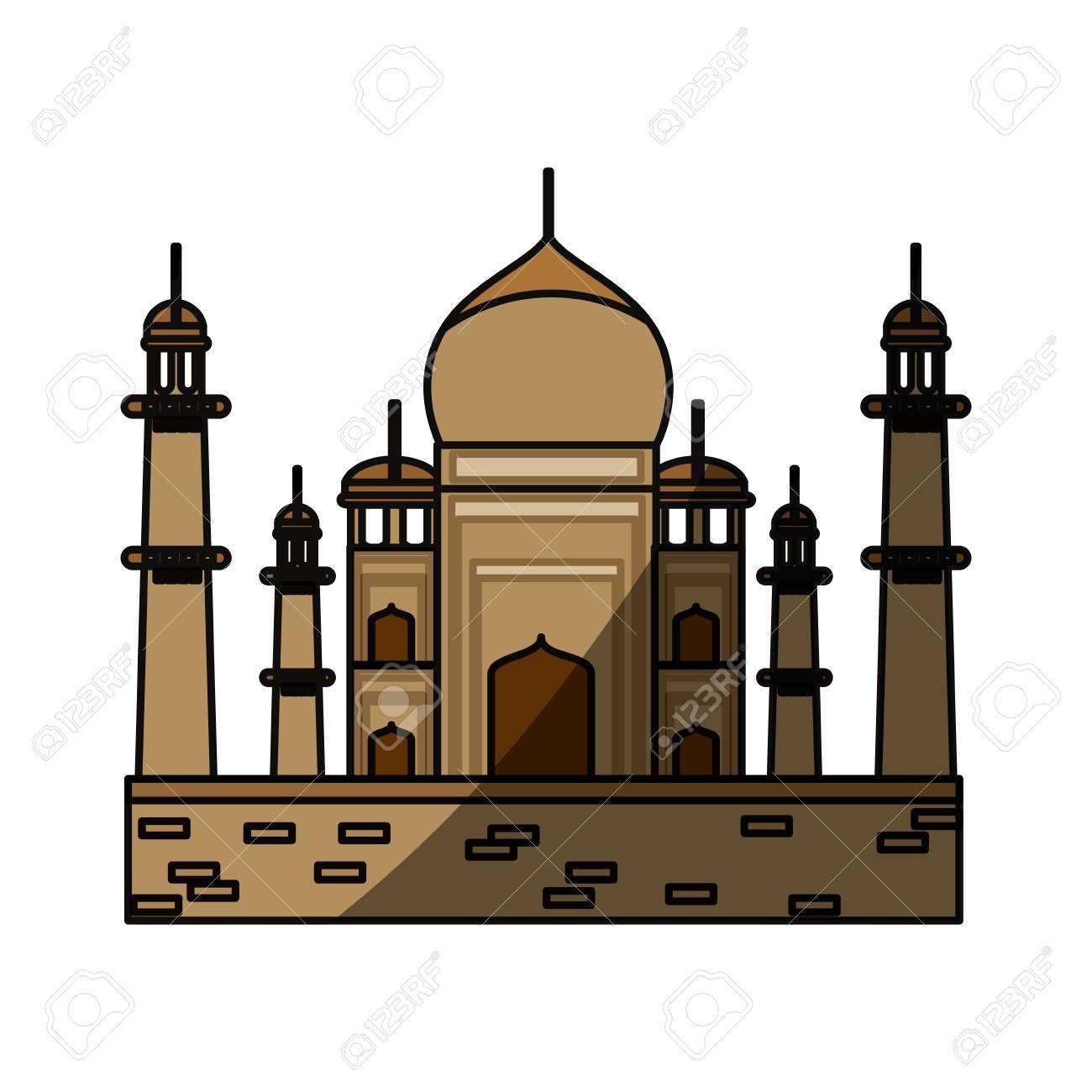 taj mahal monument icon vector illustration graphic design royalty rh 123rf com clipart taj mahal vector taj mahal clip art black and white