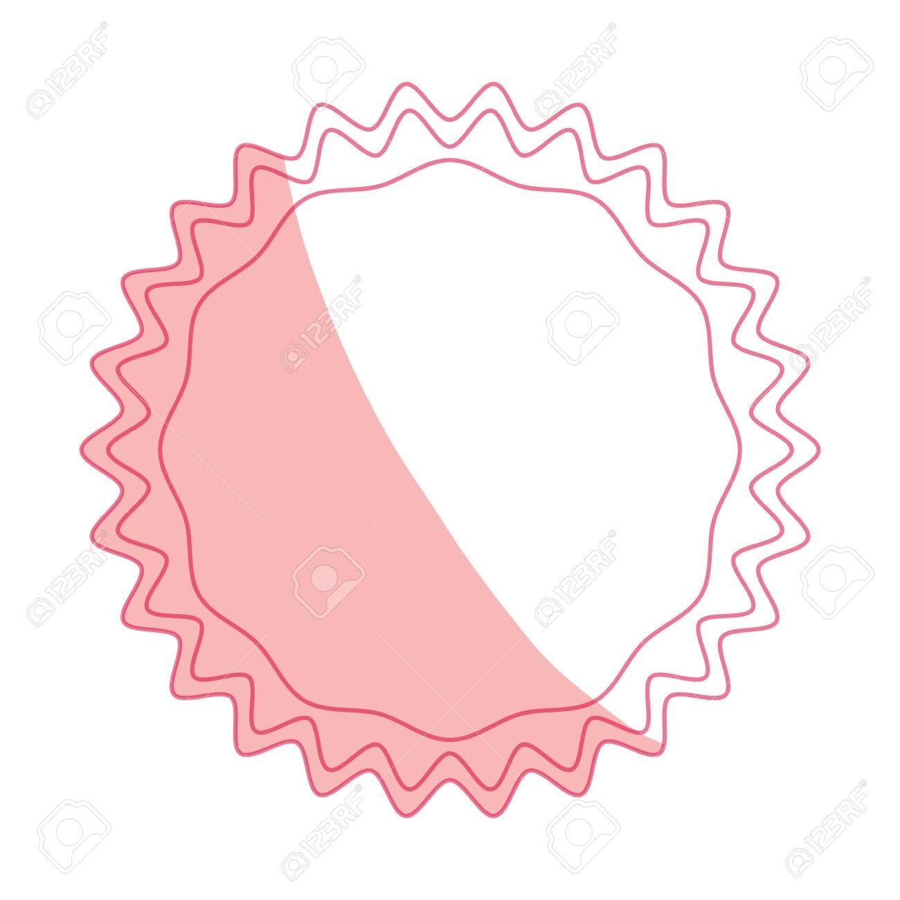 decorative blank label icon vector illustration graphic design