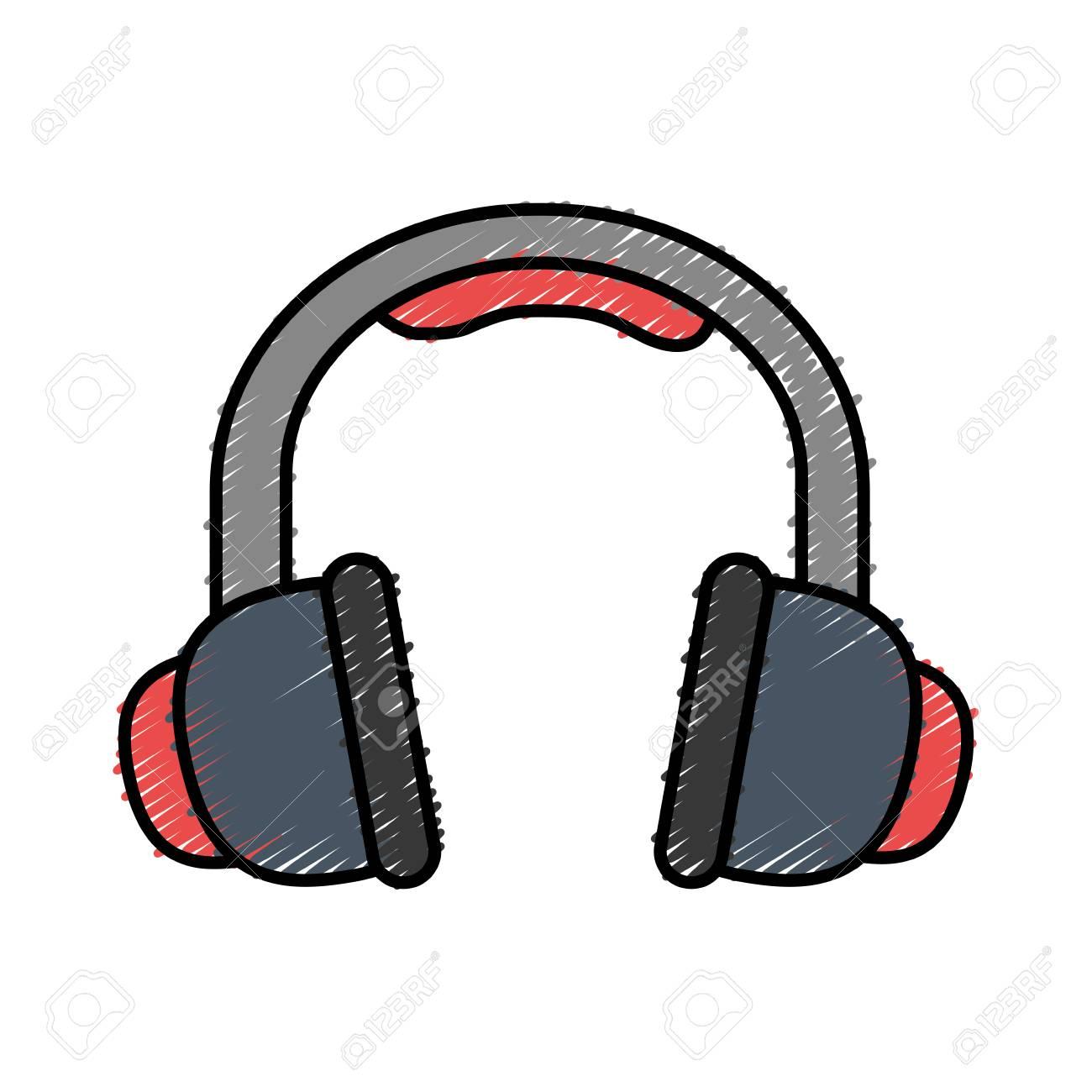 Kopfhörer-Symbol Auf Weißem Hintergrund Vektor-Illustration ...