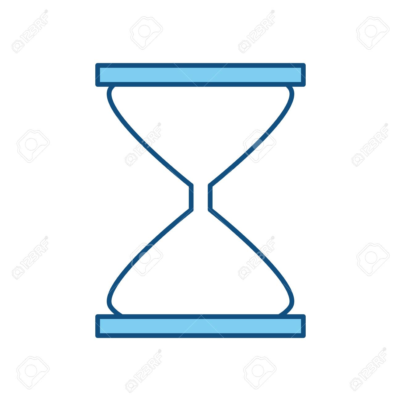 hourglass time clock icon vector illustration graphic design royalty
