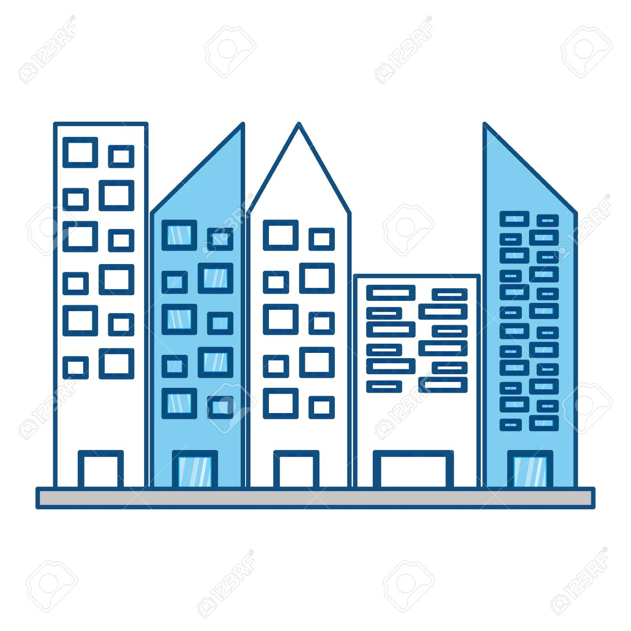urban towers buildings icon vector illustration graphic design rh 123rf com vector builders + fort worth vector building silhouette