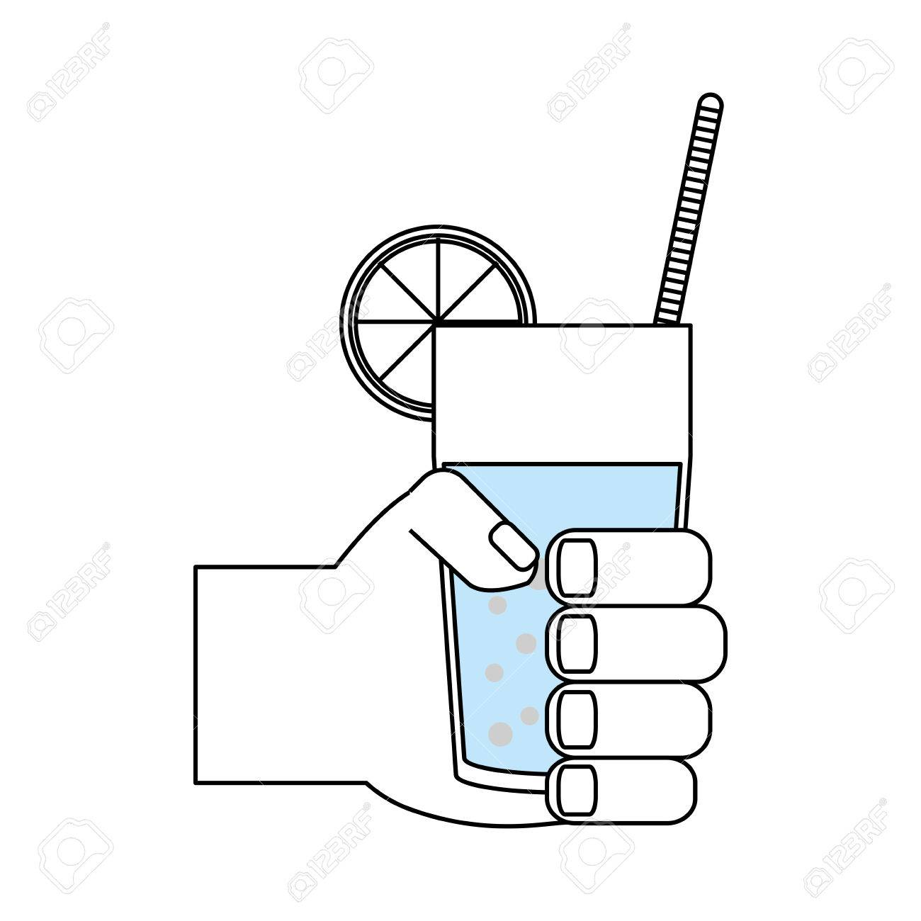 Glass juice cups design - Juice Glass Cup Icon Vector Illustration Graphic Design Stock Vector 83959313