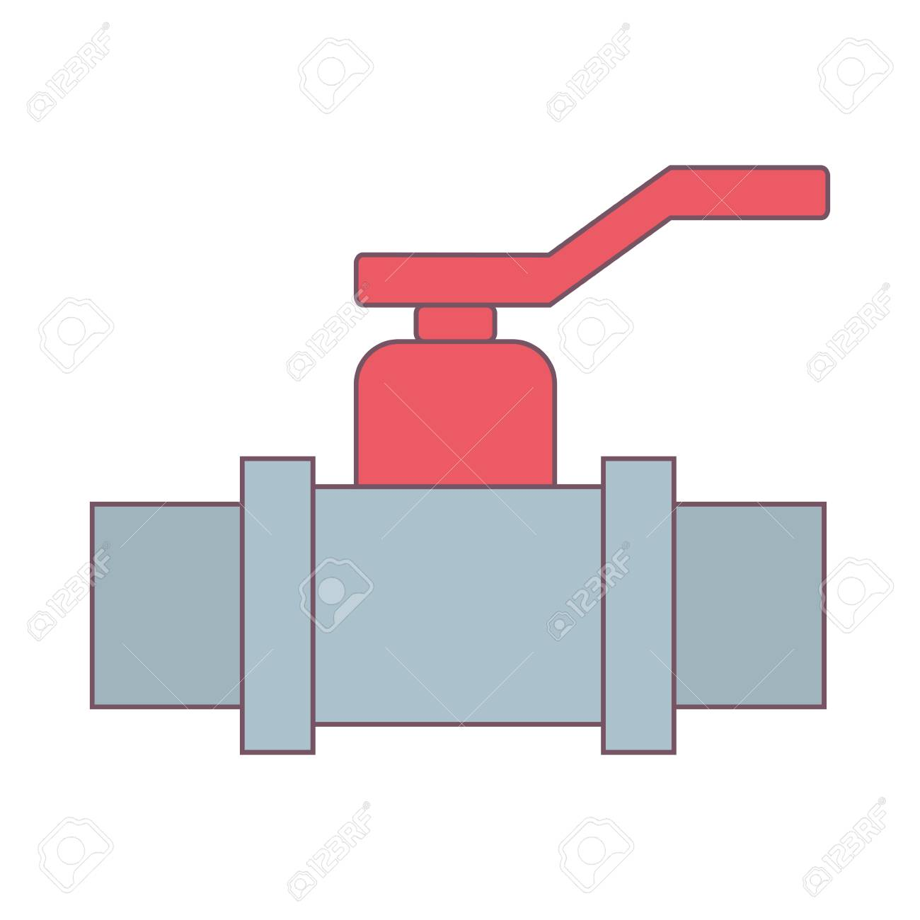 Water Pipe Valve Icon Over White Background Vector Illustration ...