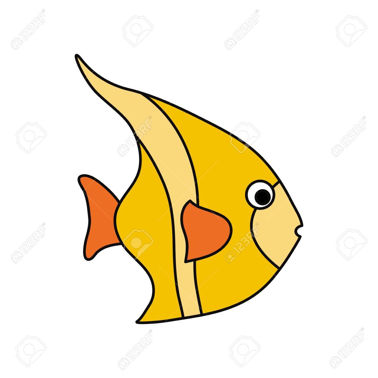 cute fish cartoon icon vector illustration graphic design royalty rh 123rf com cute fish cartoon images funny fish cartoon