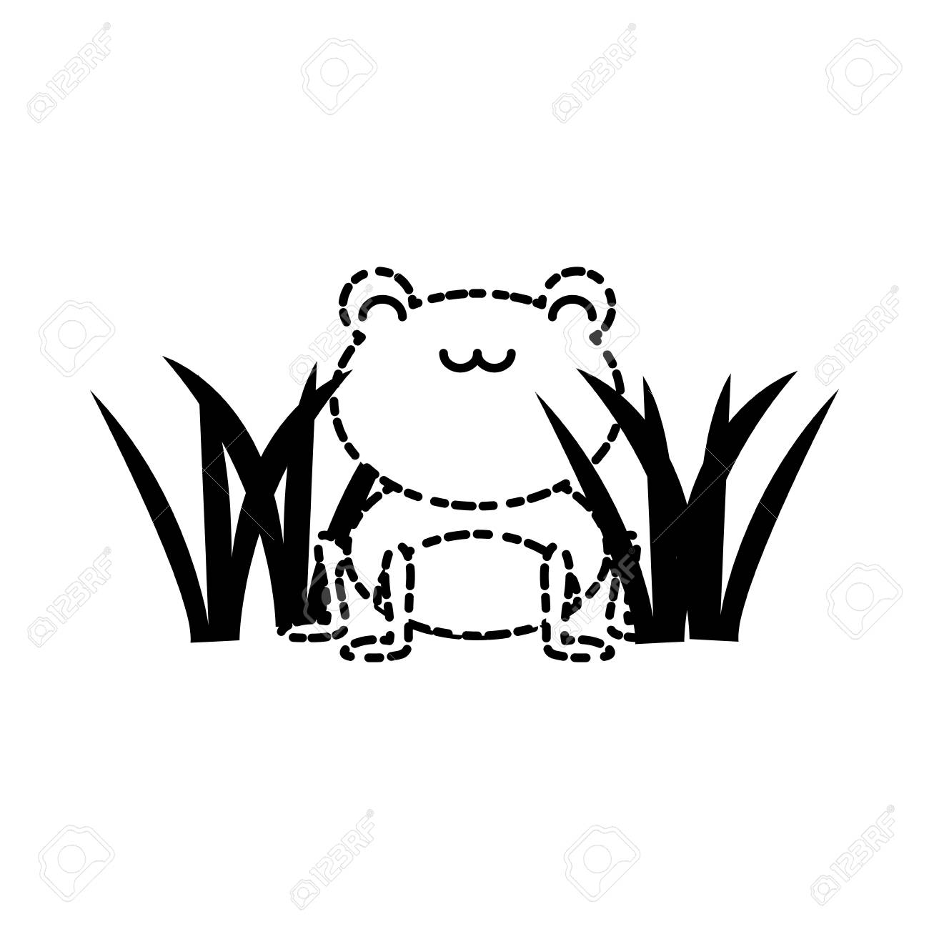 Cute Frog Icon Stock Vector
