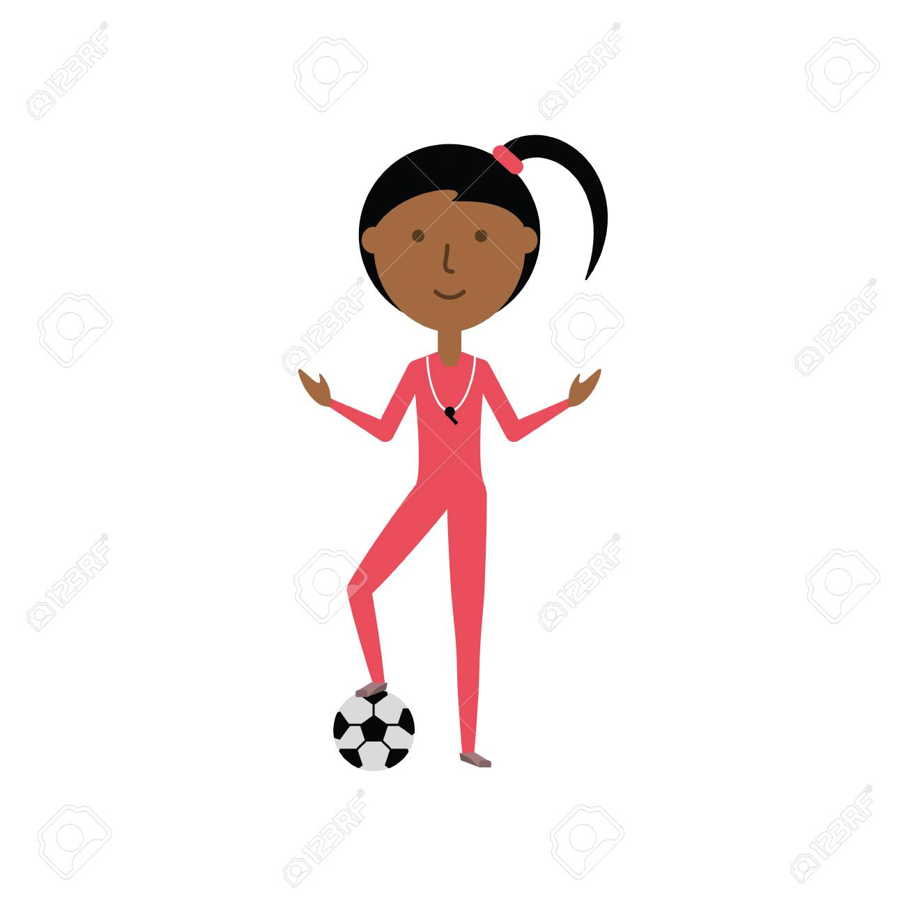 Colorful Sports Teacher Over White Background Vector Illustration Royalty  Free Cliparts, Vectors, And Stock Illustration. Image 88942358.
