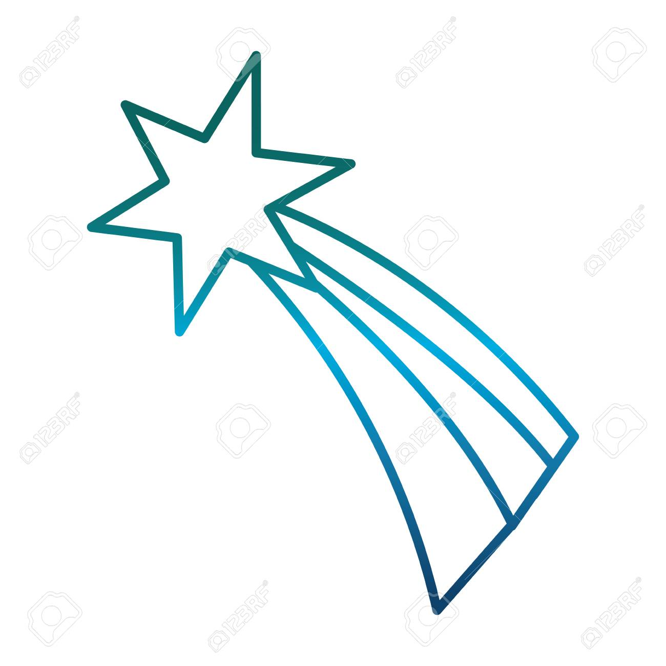 Shooting Star Icon Royalty Free Cliparts Vectors And Stock