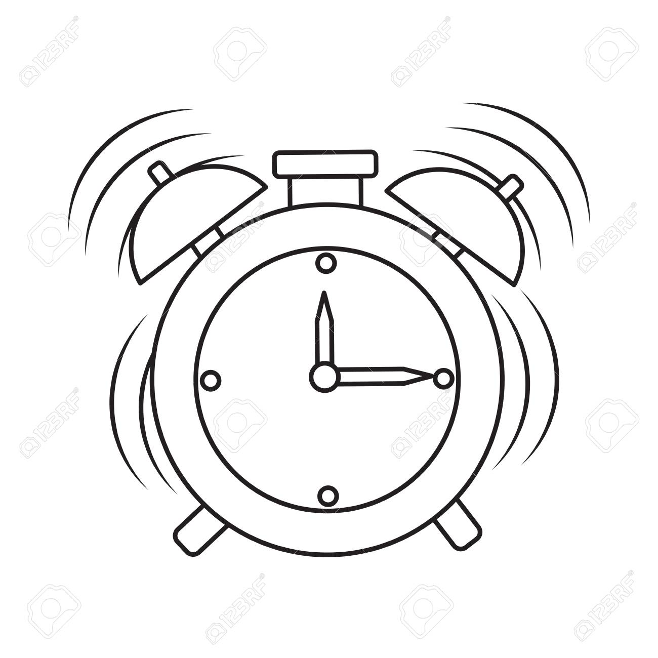 Alarm Clock Ringing Icon Over White Background Vector Illustration Royalty Free Cliparts Vectors And Stock Illustration Image 90690926