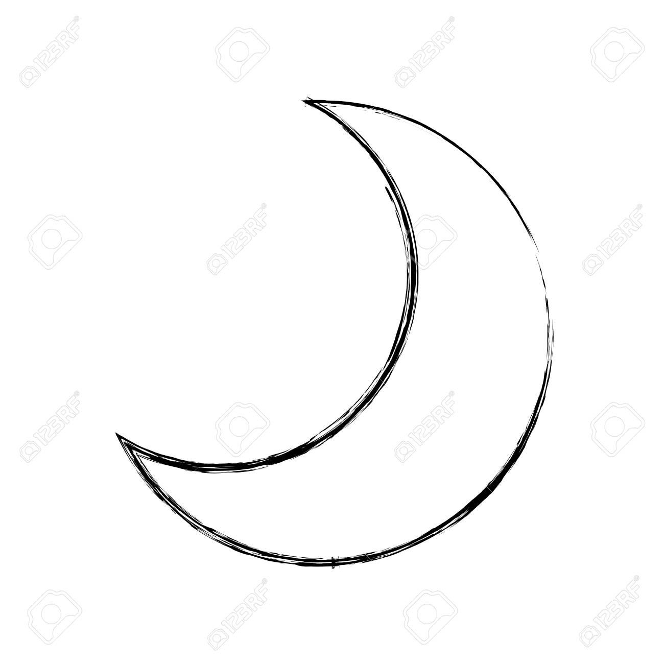 Luna Cuarto Menguante Icono De Dibujos Animados Vector Ilustración ...