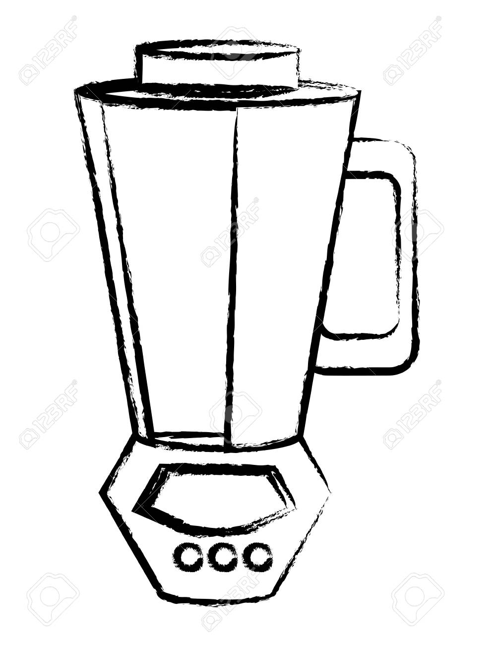 A Sketch Of A Blender Over White Background Vector Illustration Royalty Free Cliparts Vectors And Stock Illustration Image 97282958