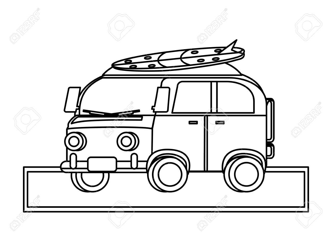 9504e91f75 Surf Van Icon Over White Background