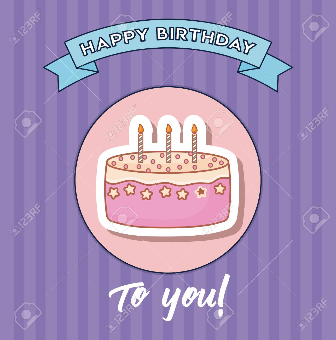 Wondrous Happy Birthday Design With Birthday Cake With Candles Icon Over Funny Birthday Cards Online Inifodamsfinfo