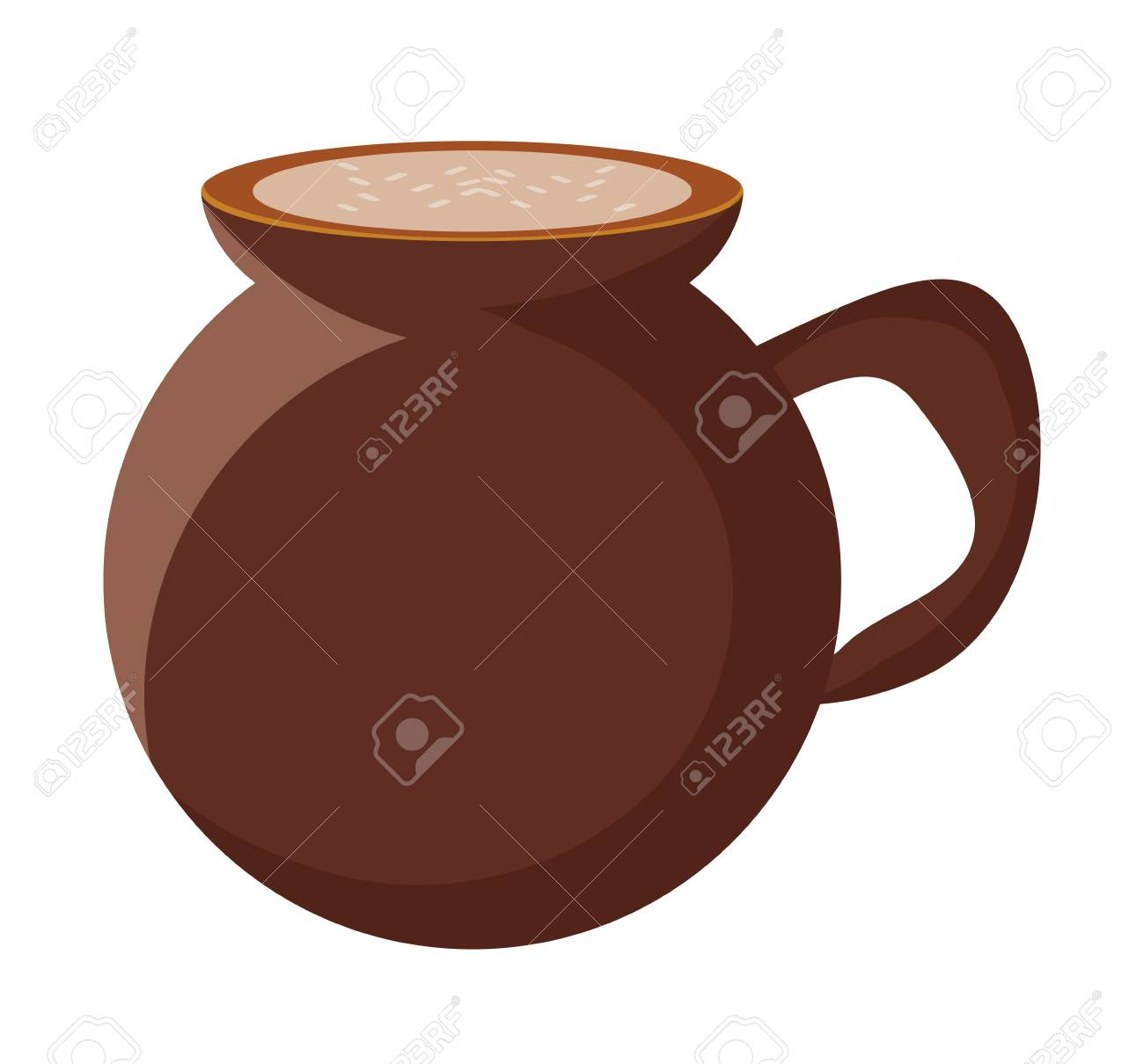 mexican coffee cafe de olla icon over white background, colorful design. vector illustration - 99248111