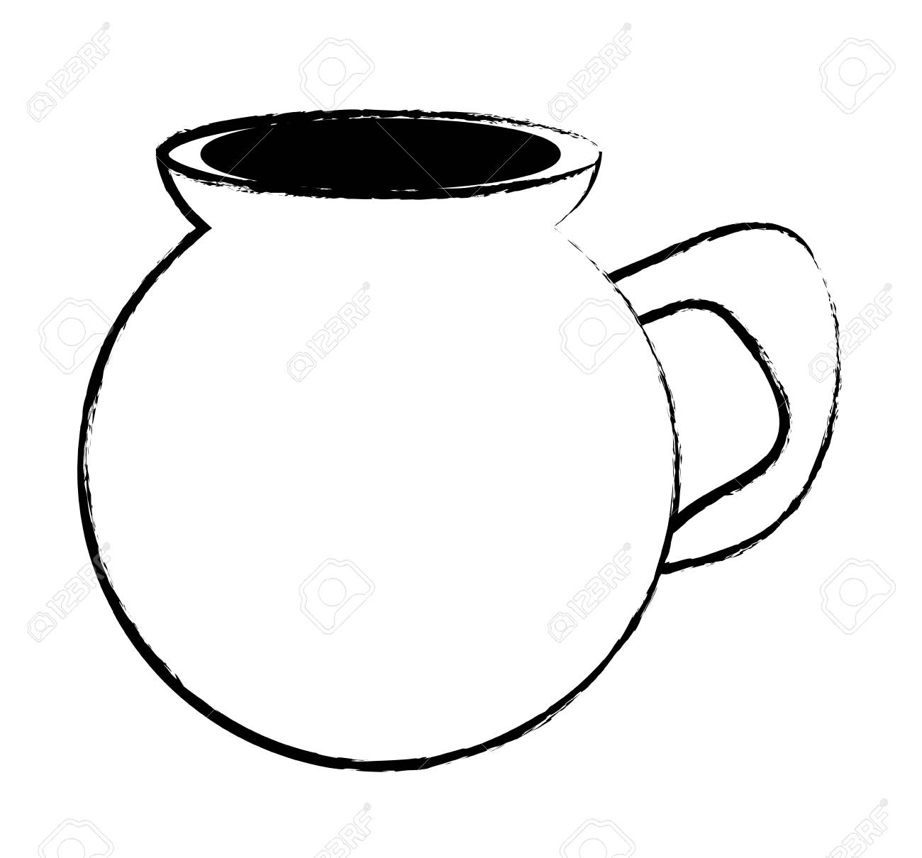 mexican coffee cafe de olla icon over white background, vector illustration - 99257081