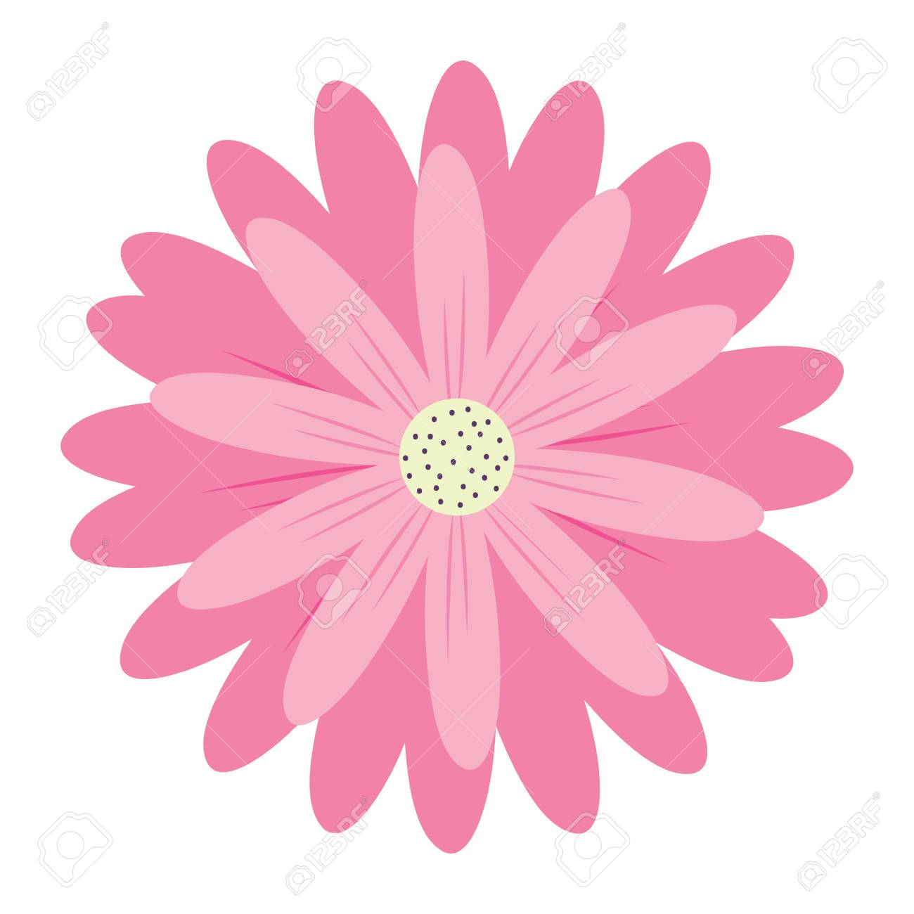 Pink flower icon over white background colorful design vector pink flower icon over white background colorful design vector illustration stock vector 99689785 mightylinksfo