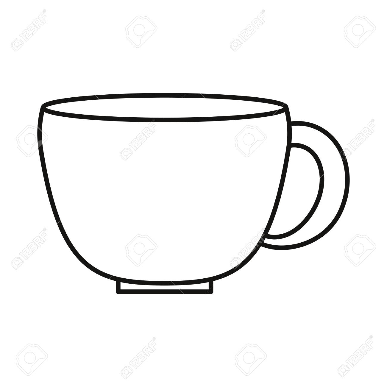 Coffee Mug Icon Over White Background Vector Illustration Royalty Free Cliparts Vectors And Stock Illustration Image 109746907