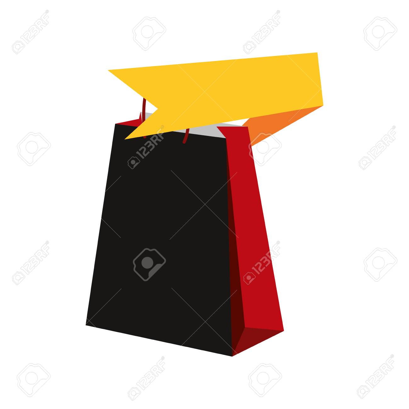online shopping bag ribbon market vector illustration Stock Vector -  113356832 4d7eda50661b8