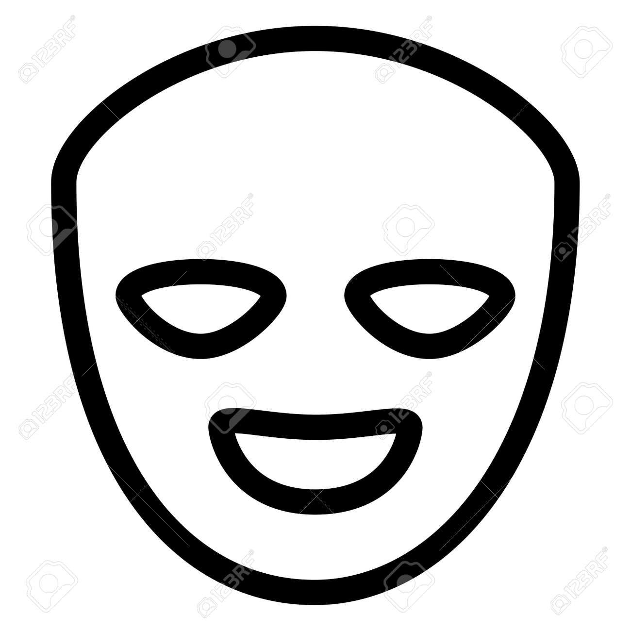 theatrical happy masks isolated icon vector illustration design - 126091152