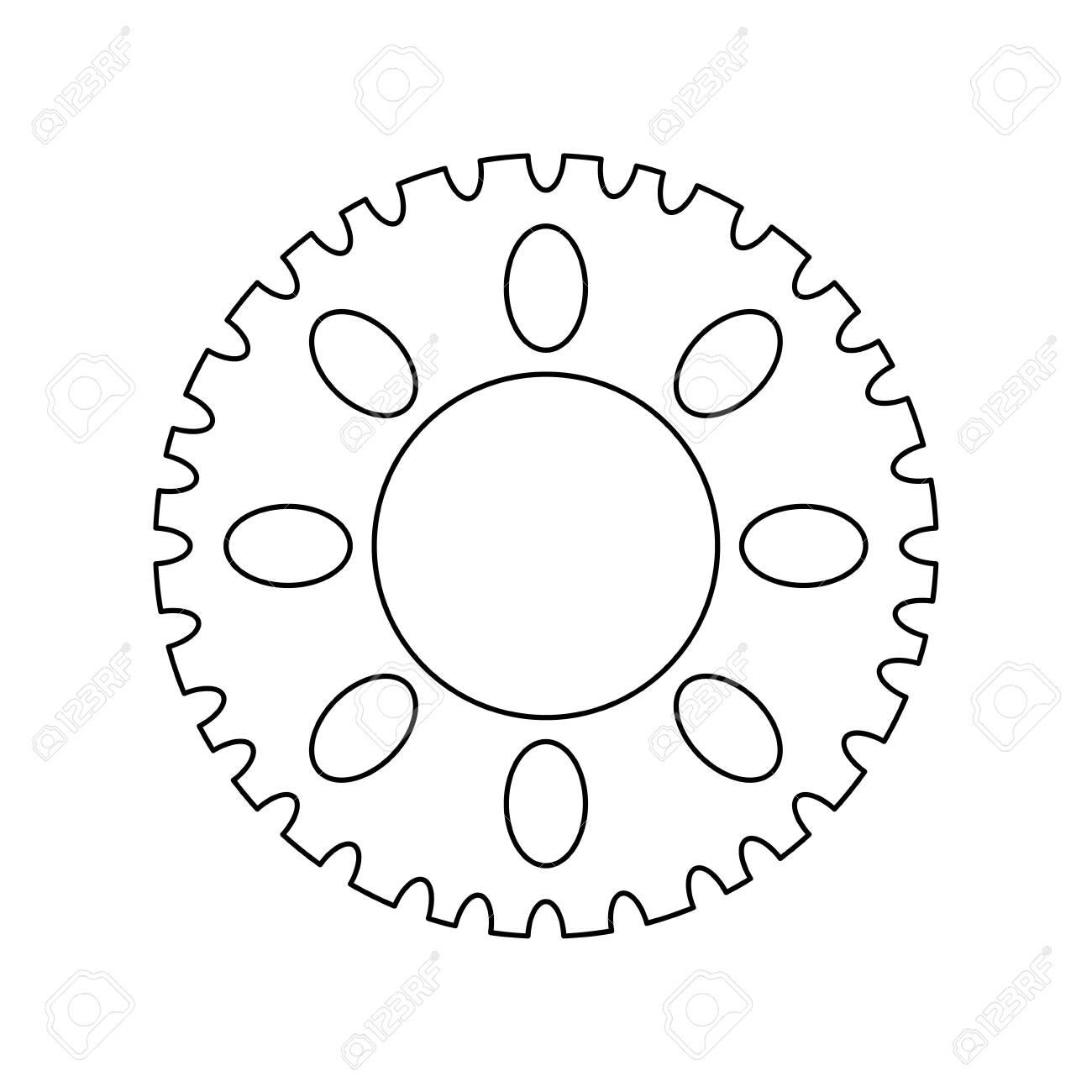 gear pinion machine isolated icon vector illustration design - 122605618