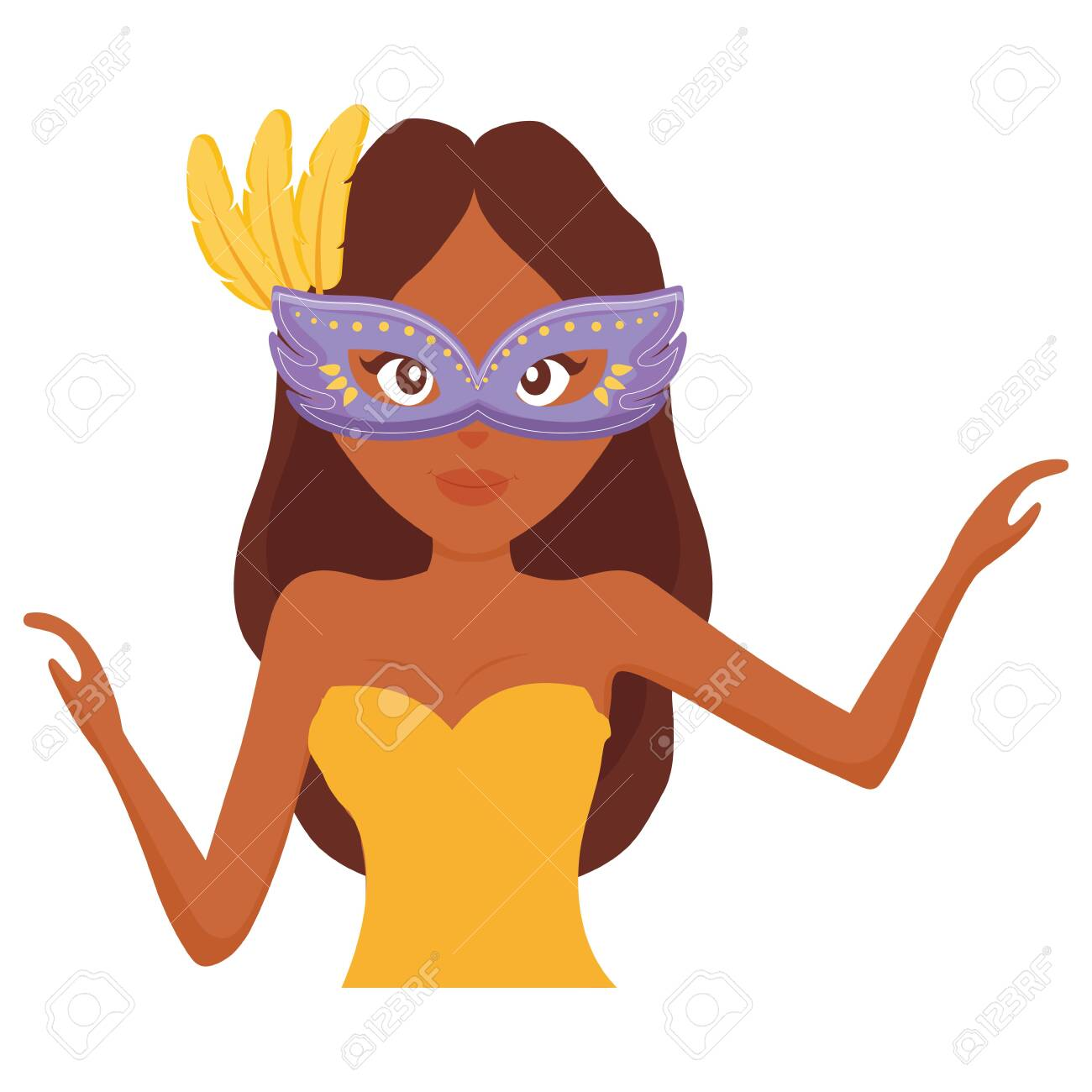 beautiful woman with carnival mask vector illustration design - 131361853