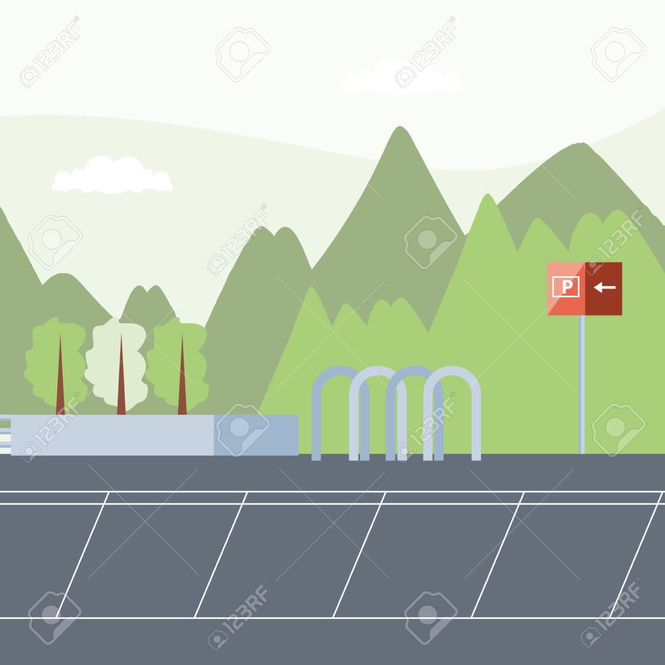 parking zone urban scene icon vector illustration design - 136914826