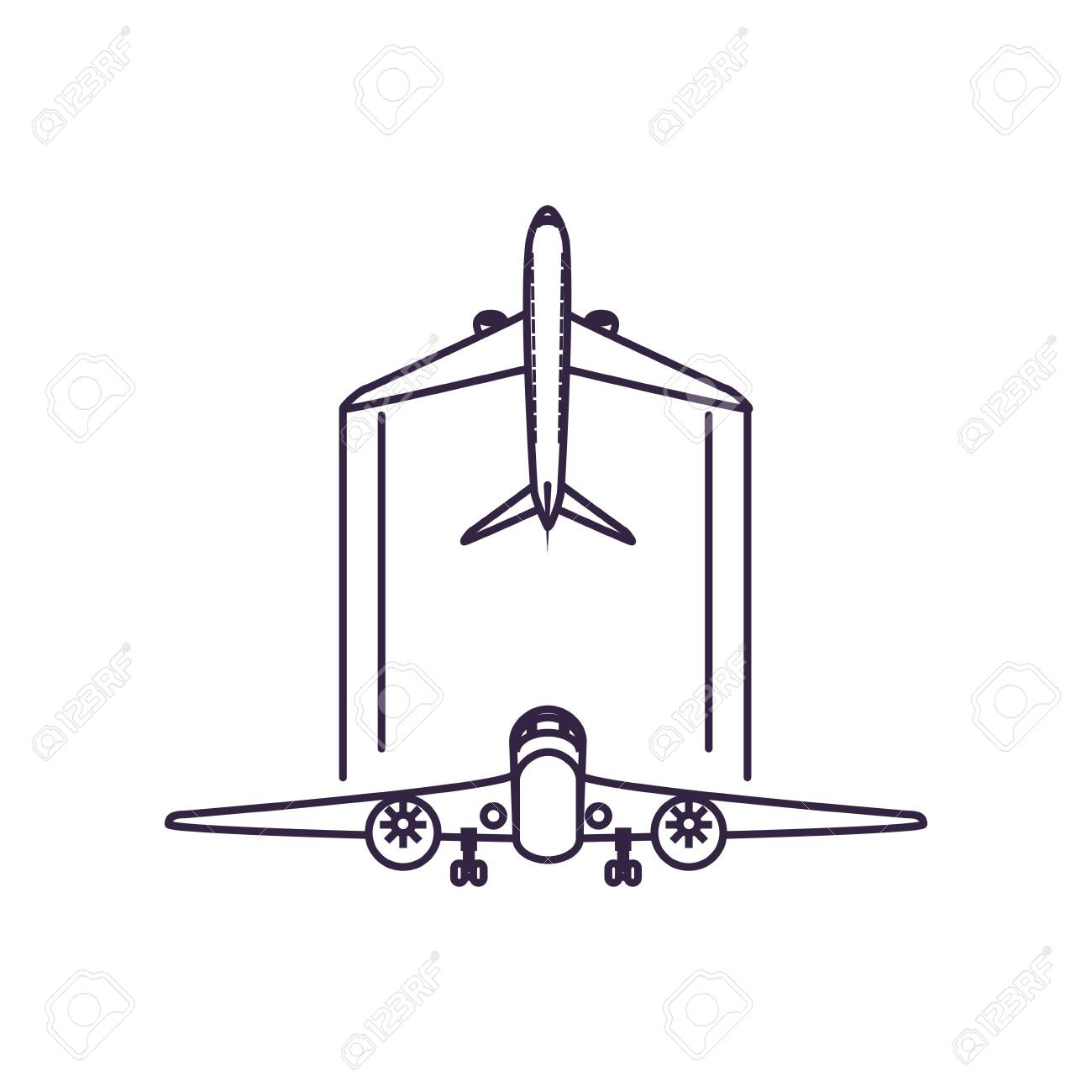 Airplanes Flying Vehicles Isolated Icon Vector Illustration Design Royalty Free Cliparts Vectors And Stock Illustration Image 140806947