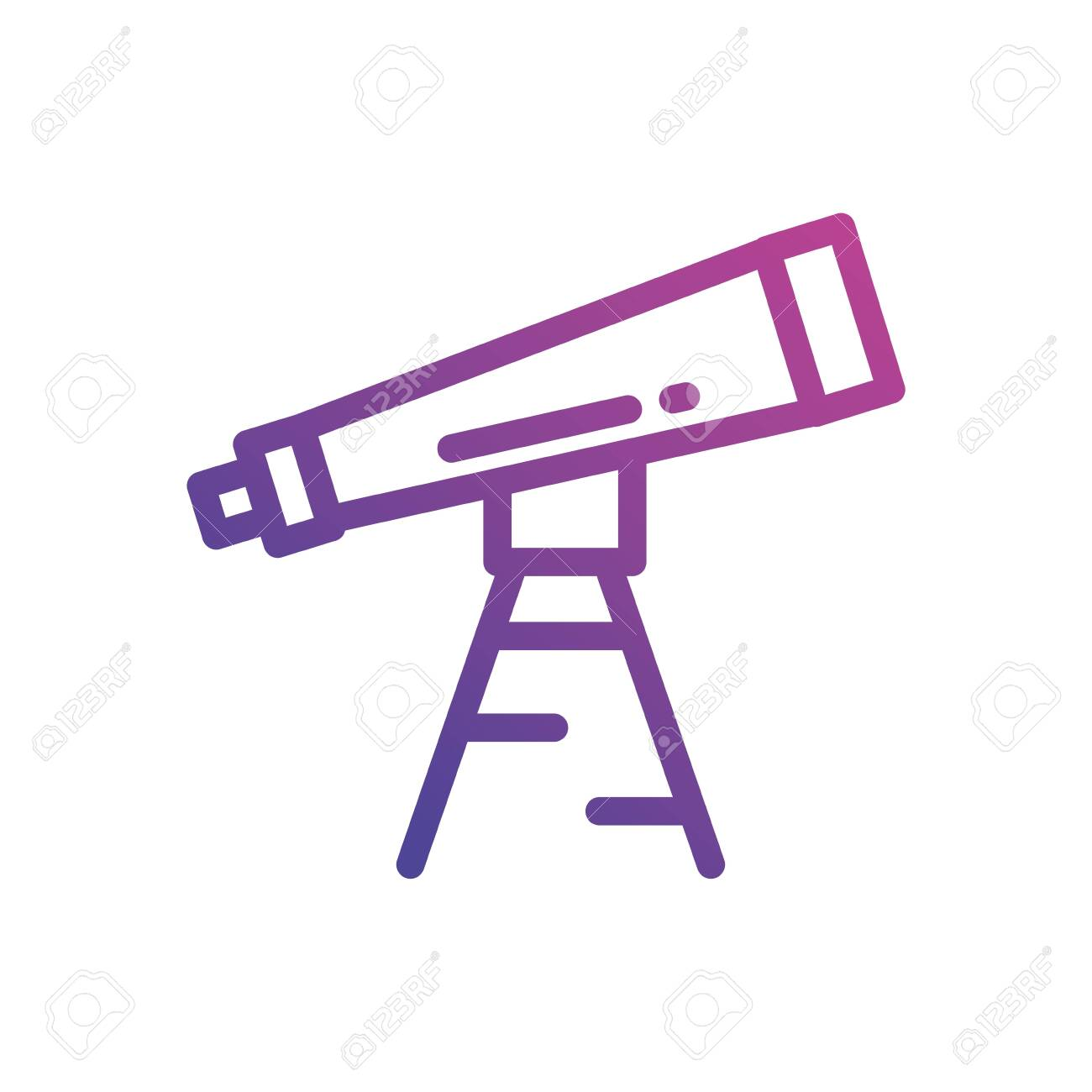 Telescope Icon Design Science Discovery Observe Astronomy Sky Royalty Free Cliparts Vectors And Stock Illustration Image 141566277