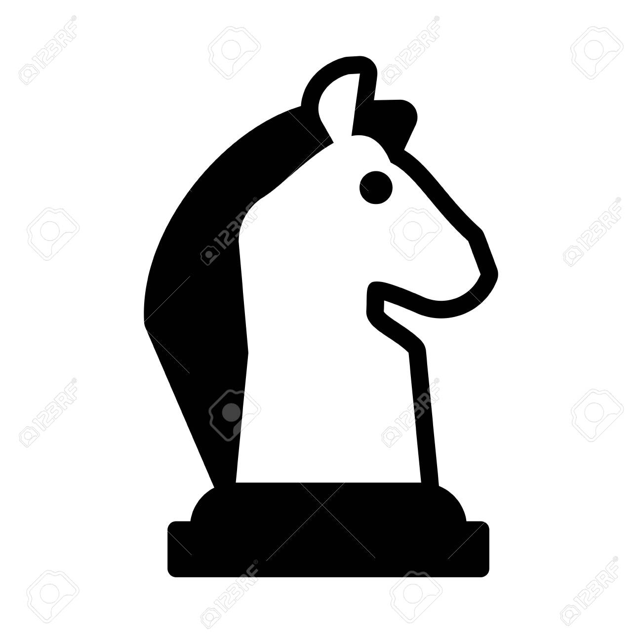 Horse Chess Piece Chess Game On White Background Vector Illustration Design Ilustraciones Vectoriales Clip Art Vectorizado Libre De Derechos Image 143223496