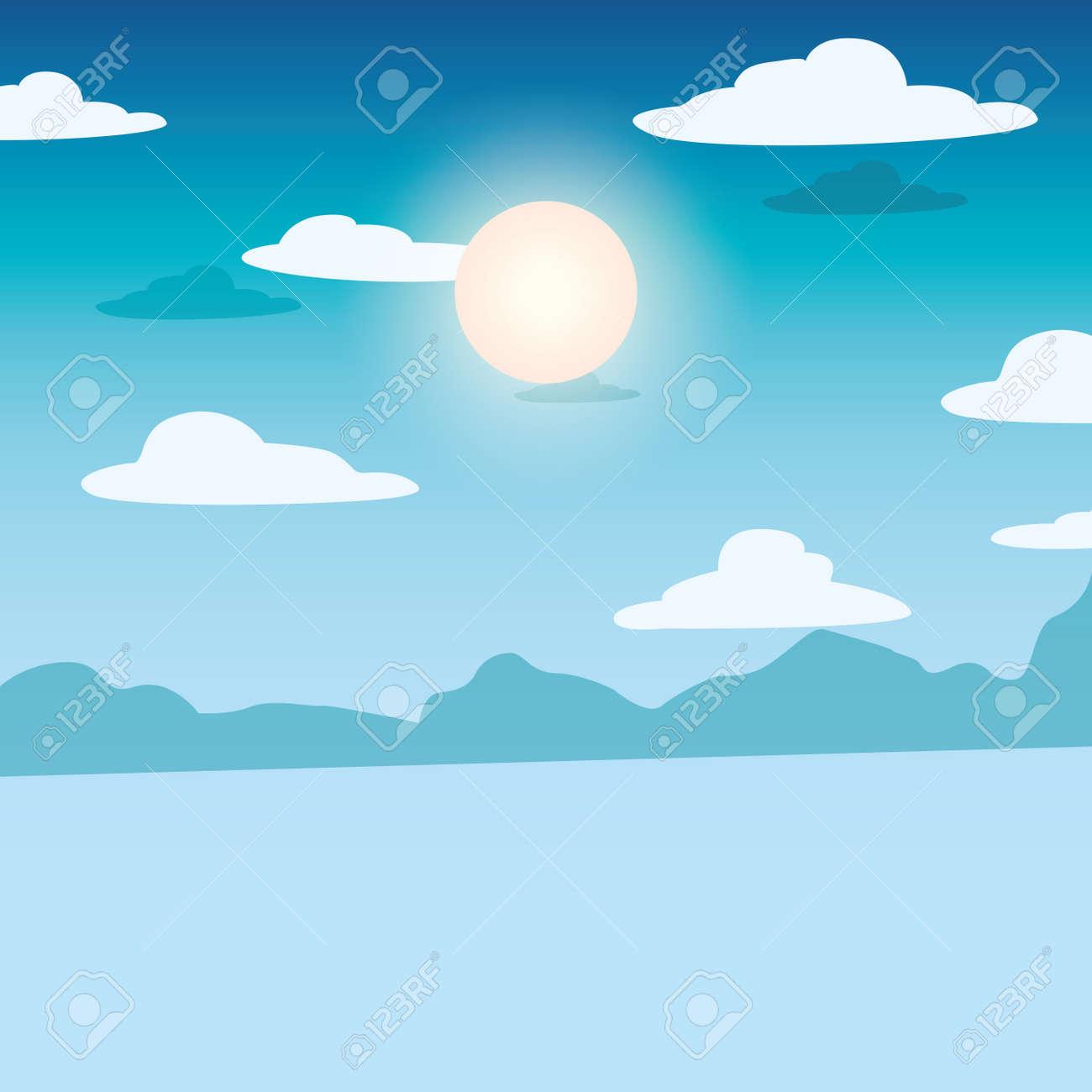 summer time vacation flat design vector illustration - 153836673