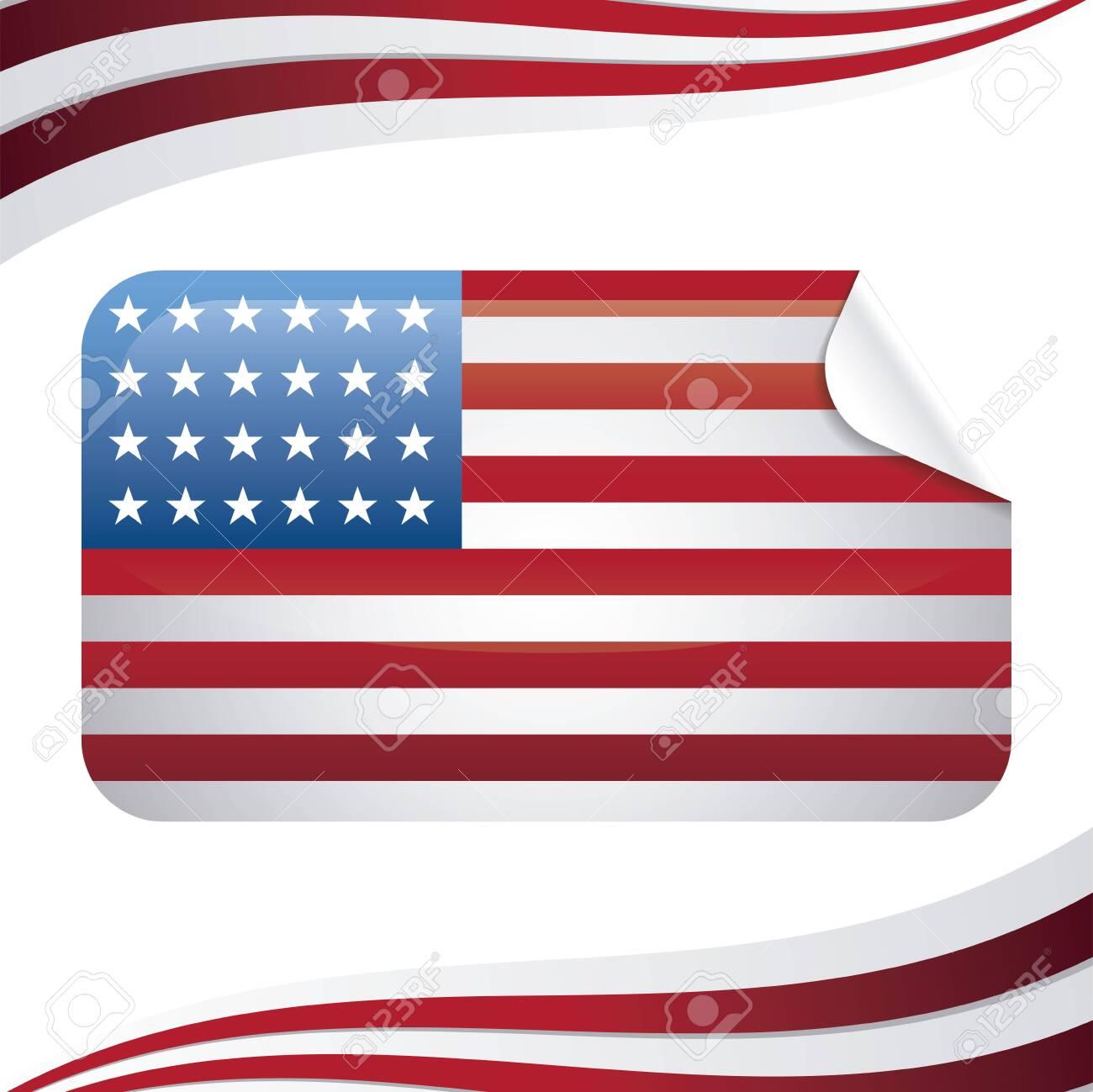 united state of american flag in rectangle shape vector illustration design - 153519135