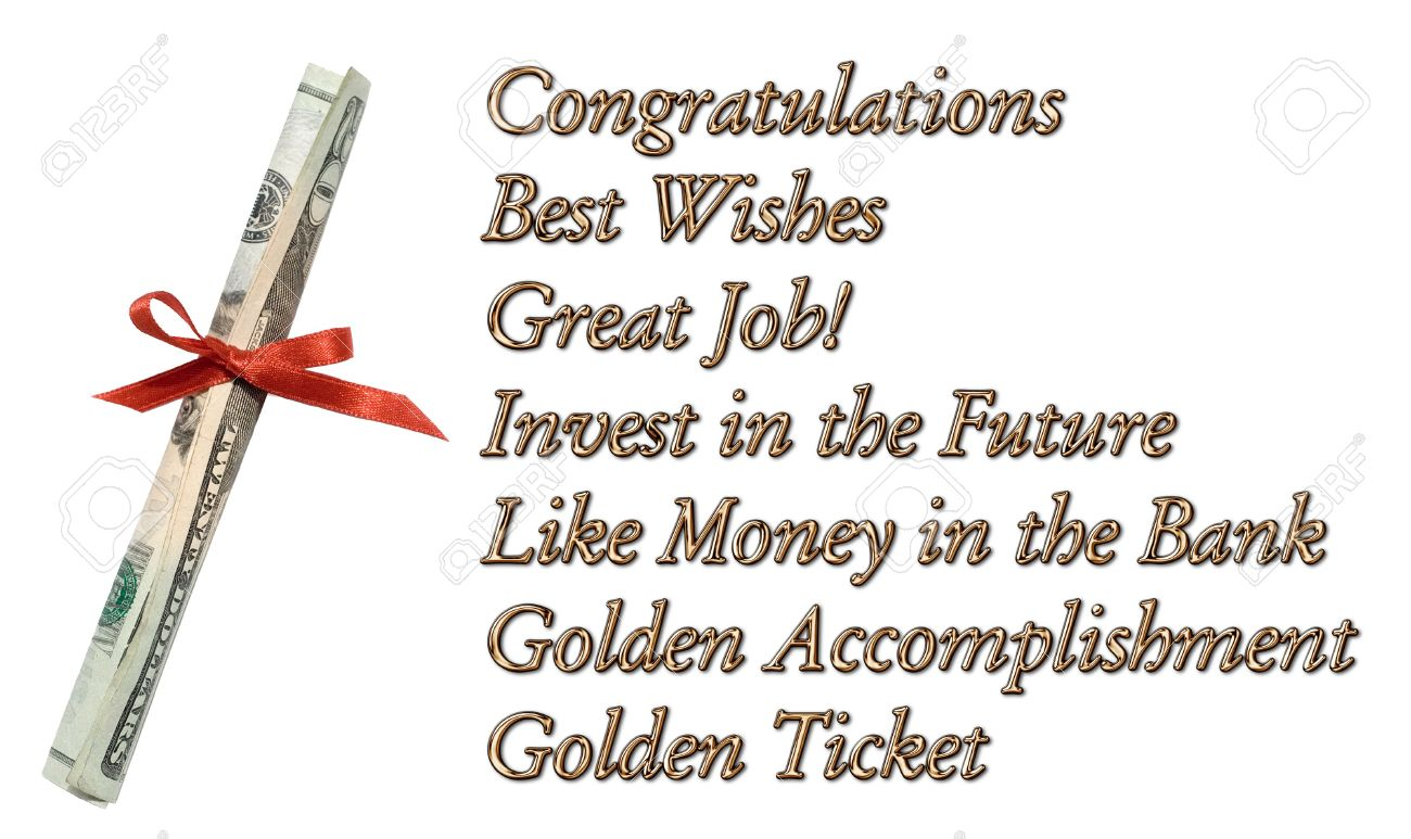 congratulations best wishes great job invest in the future