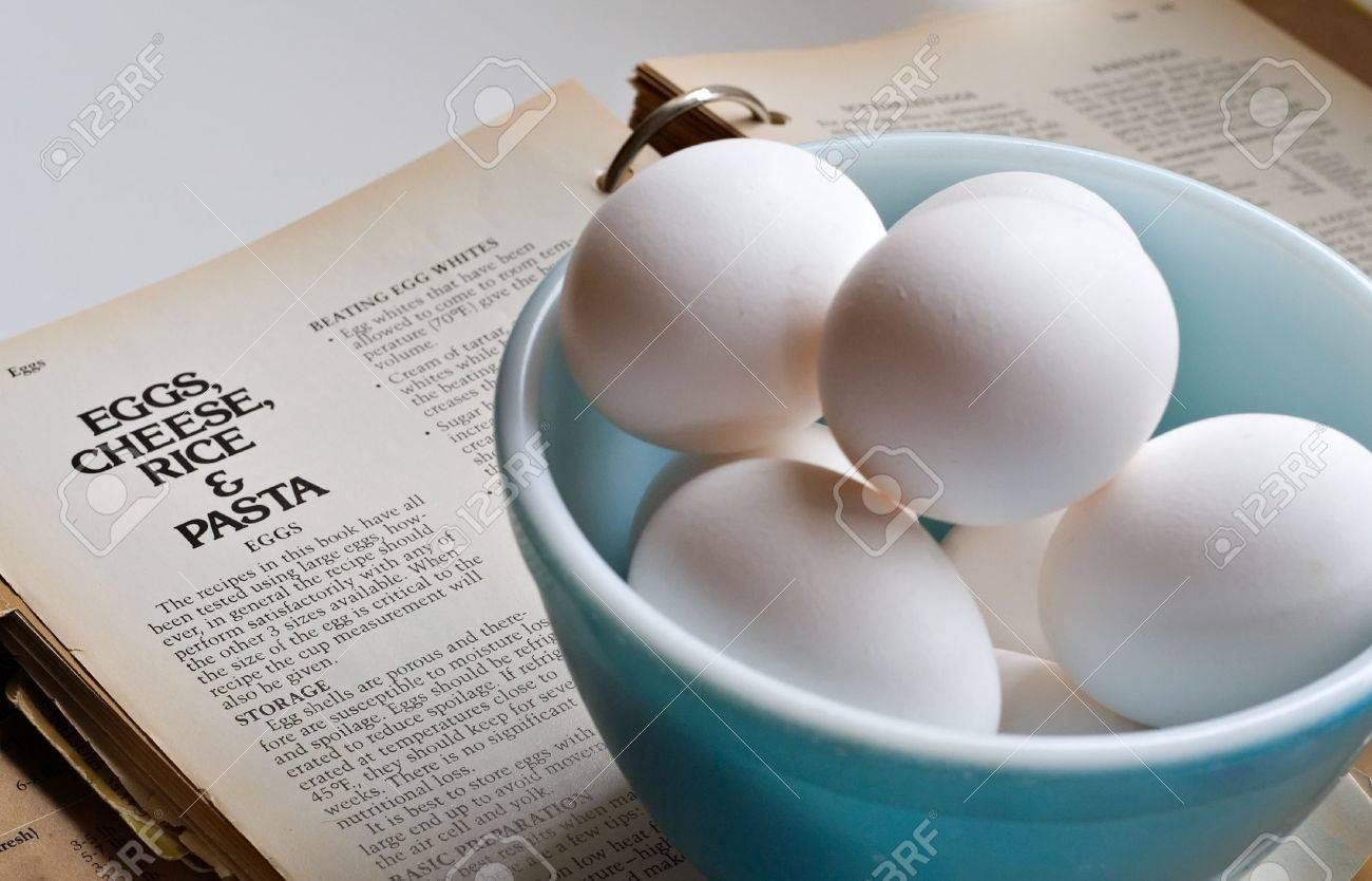 Old bowl of eggs sitting on top of an old recipe book eggs old bowl of eggs sitting on top of an old recipe book eggs cheese forumfinder Choice Image