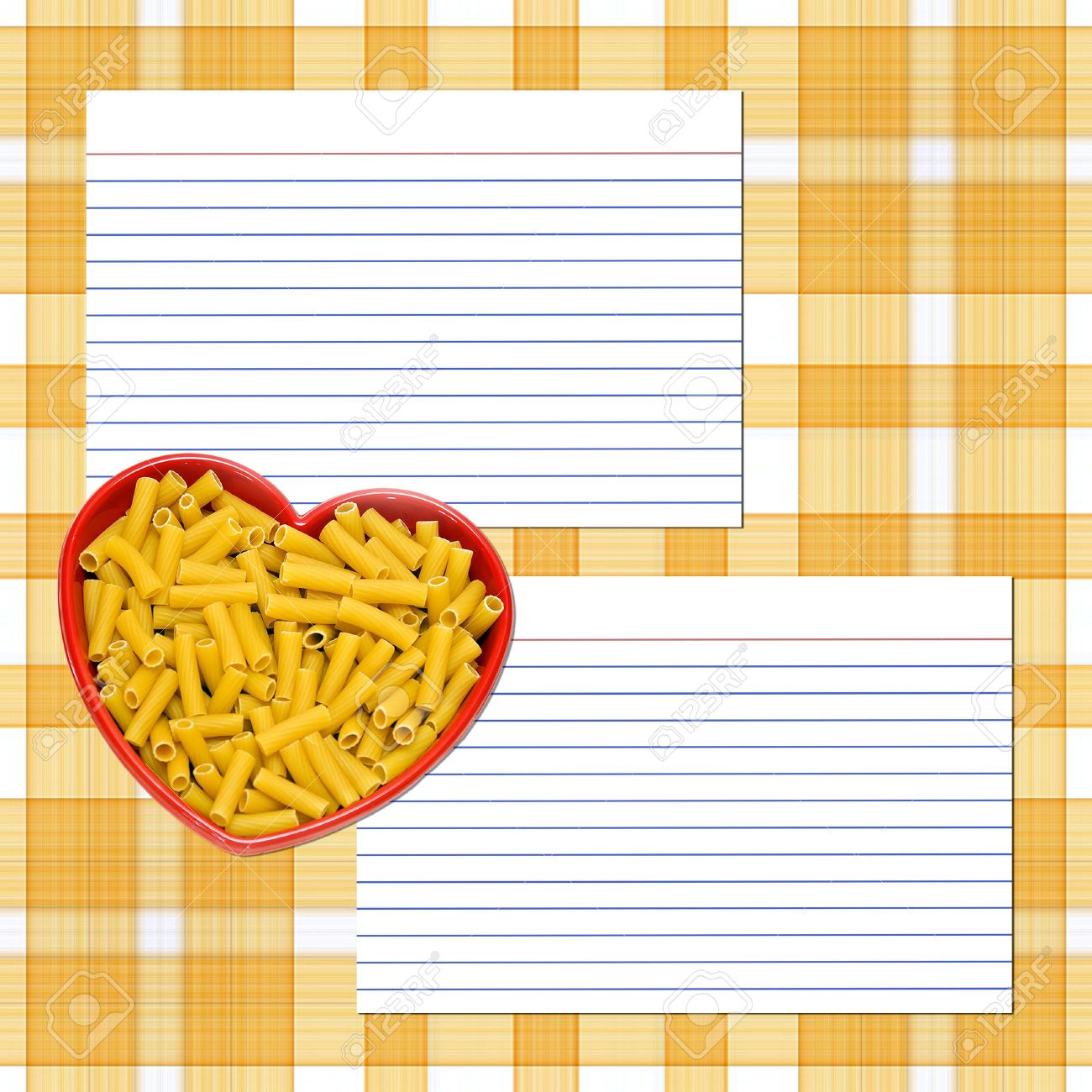A Recipe Layout For Pasta Recipes - Recipe Cards, Heart Dish ...