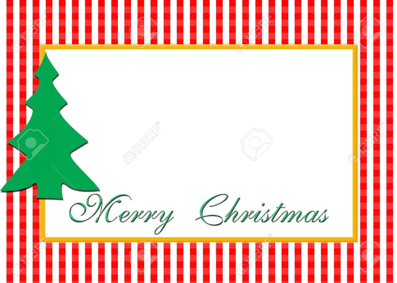 A Christmas Card Design With Blank Area For Photograph. Stock ...
