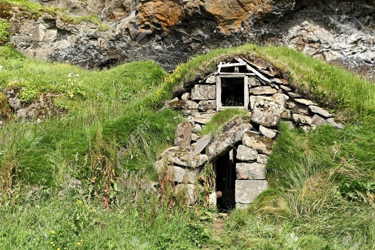 Icelandic Turf House Stock Photo - 22759876