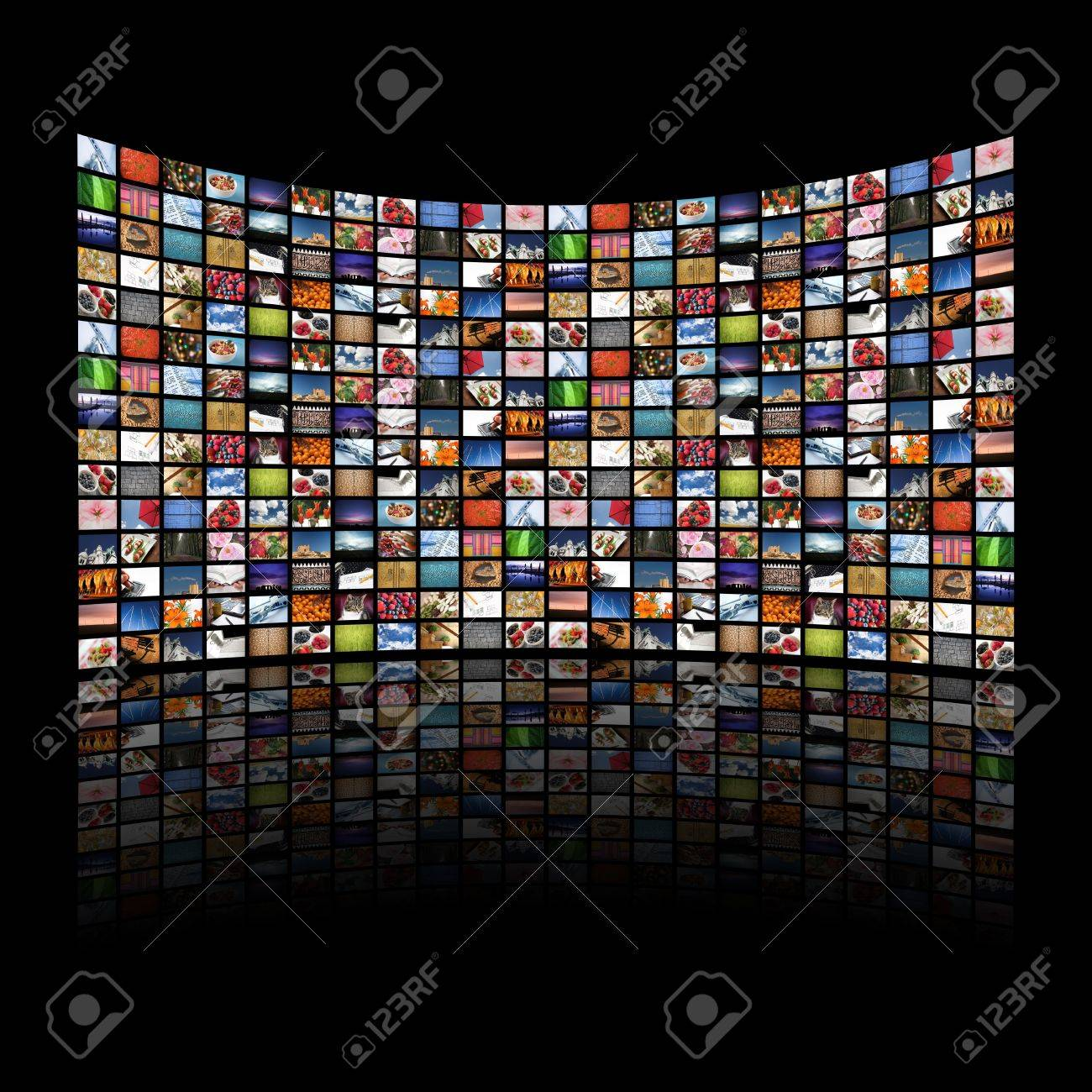 Multi media screens displaying images/information - All images � Daniel Gilbey Stock Photo - 3808293